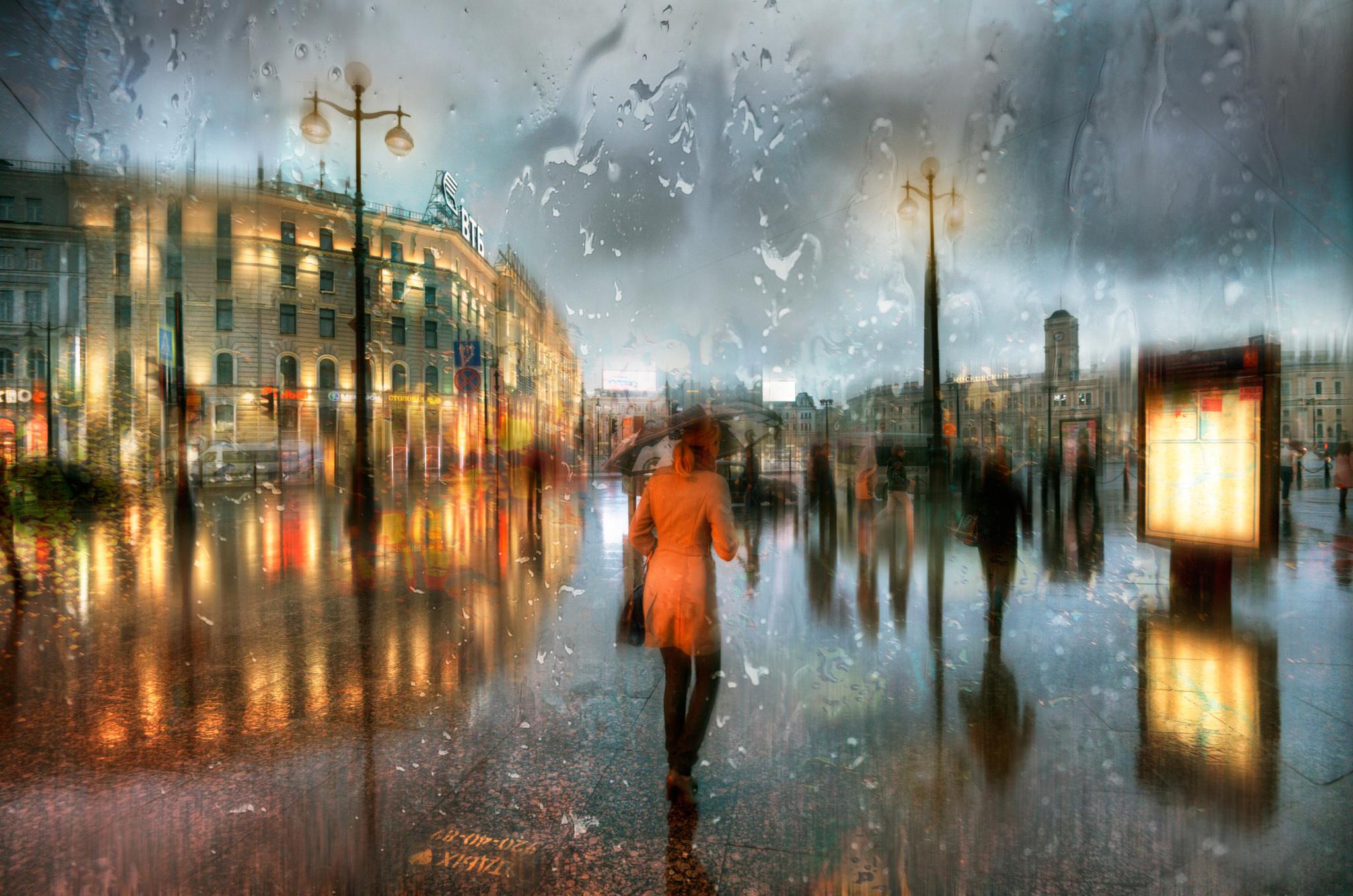 Дождь питер обои для рабочего стола