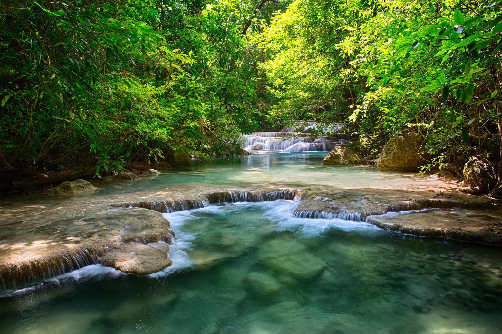 природа река водопад деревья  № 2490113  скачать