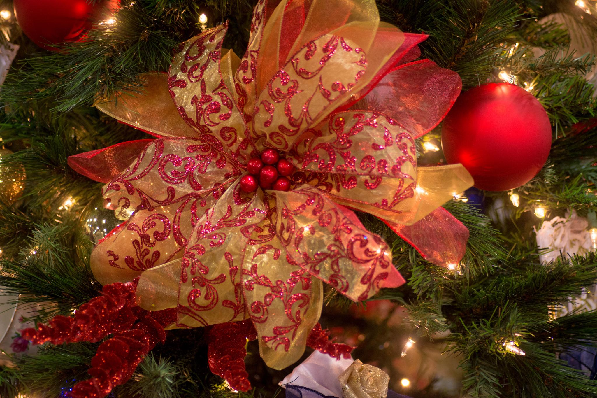 Бантики своими руками для новогодней елк
