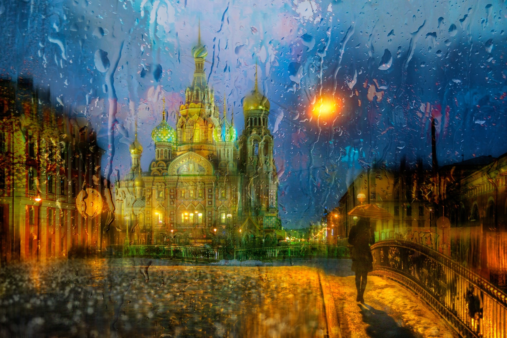 дождь питер обои для рабочего стола № 452360 загрузить