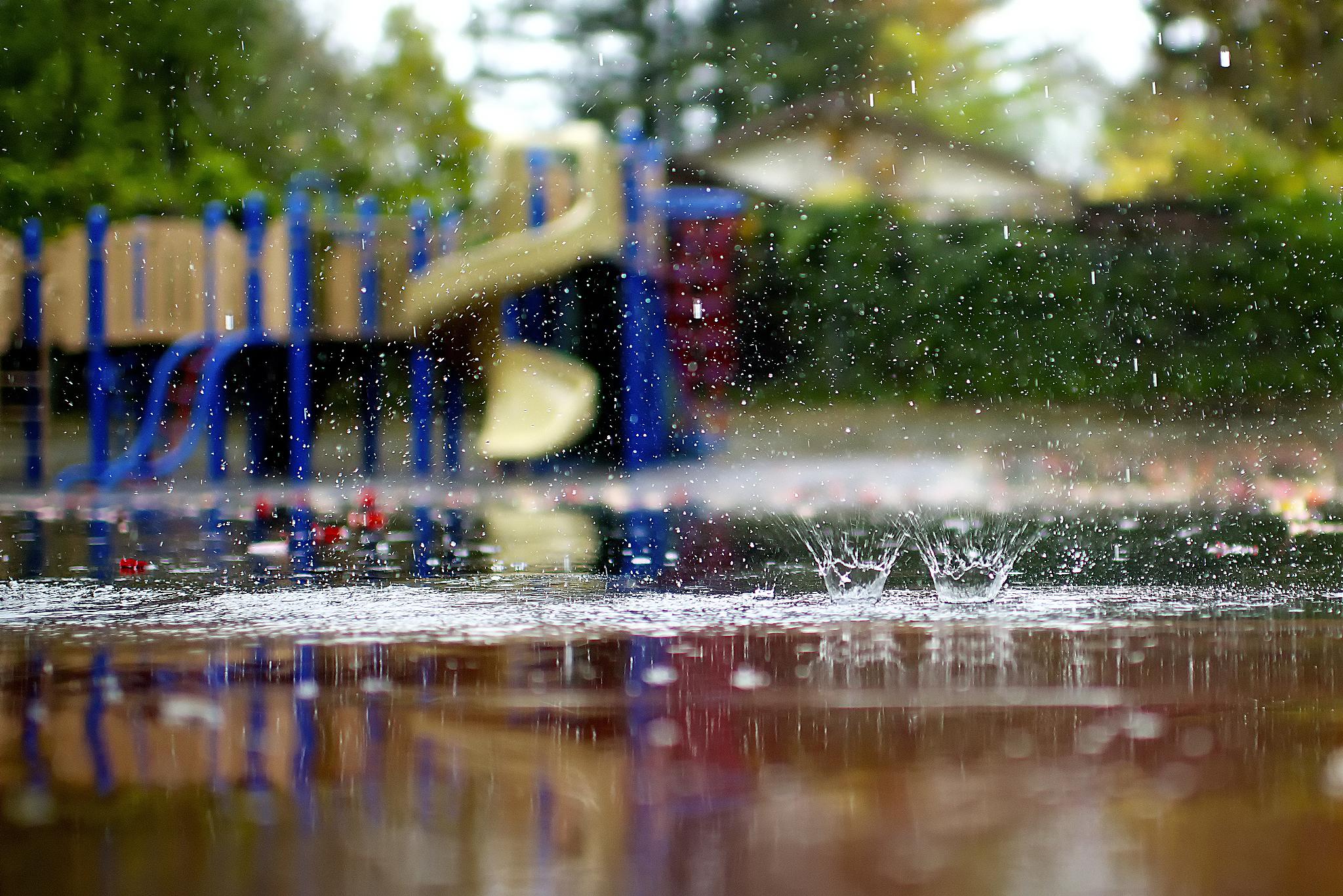 намазыванием картинки идет дождь на рабочий стол рисуете схематическую