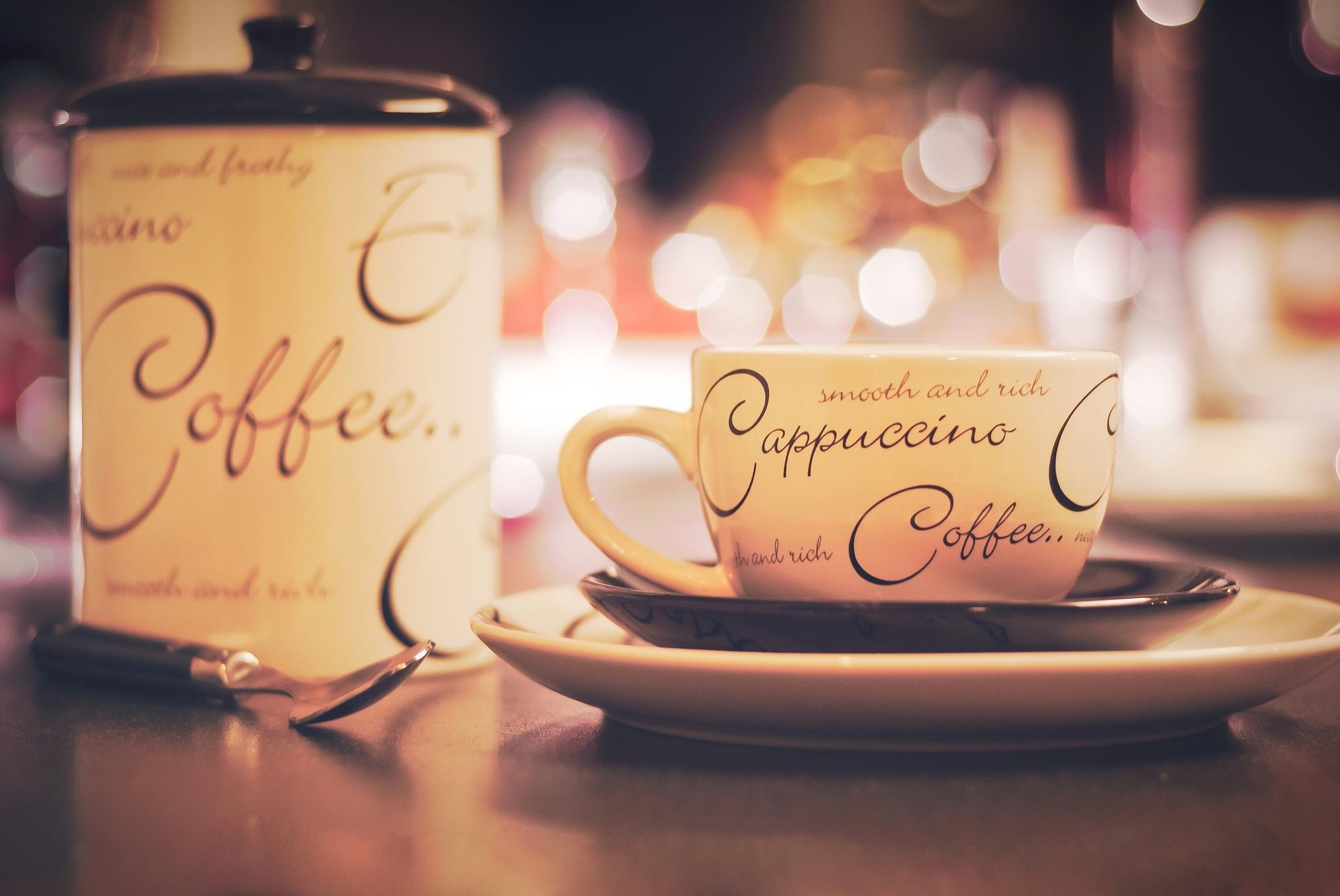 кофе чашка блюдце  № 2172612  скачать