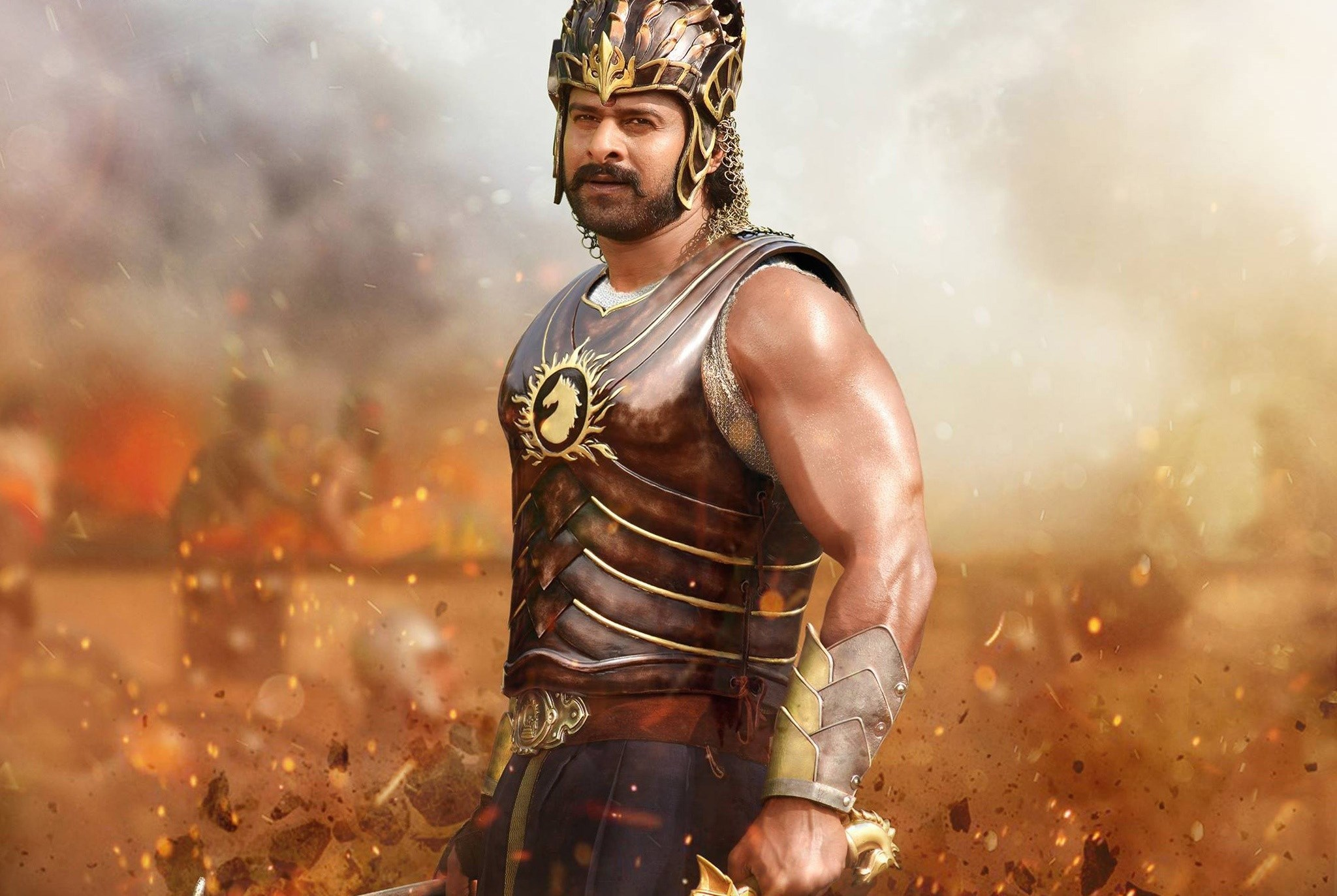 First look photos prabhas bahubali first pictures to pin on pinterest