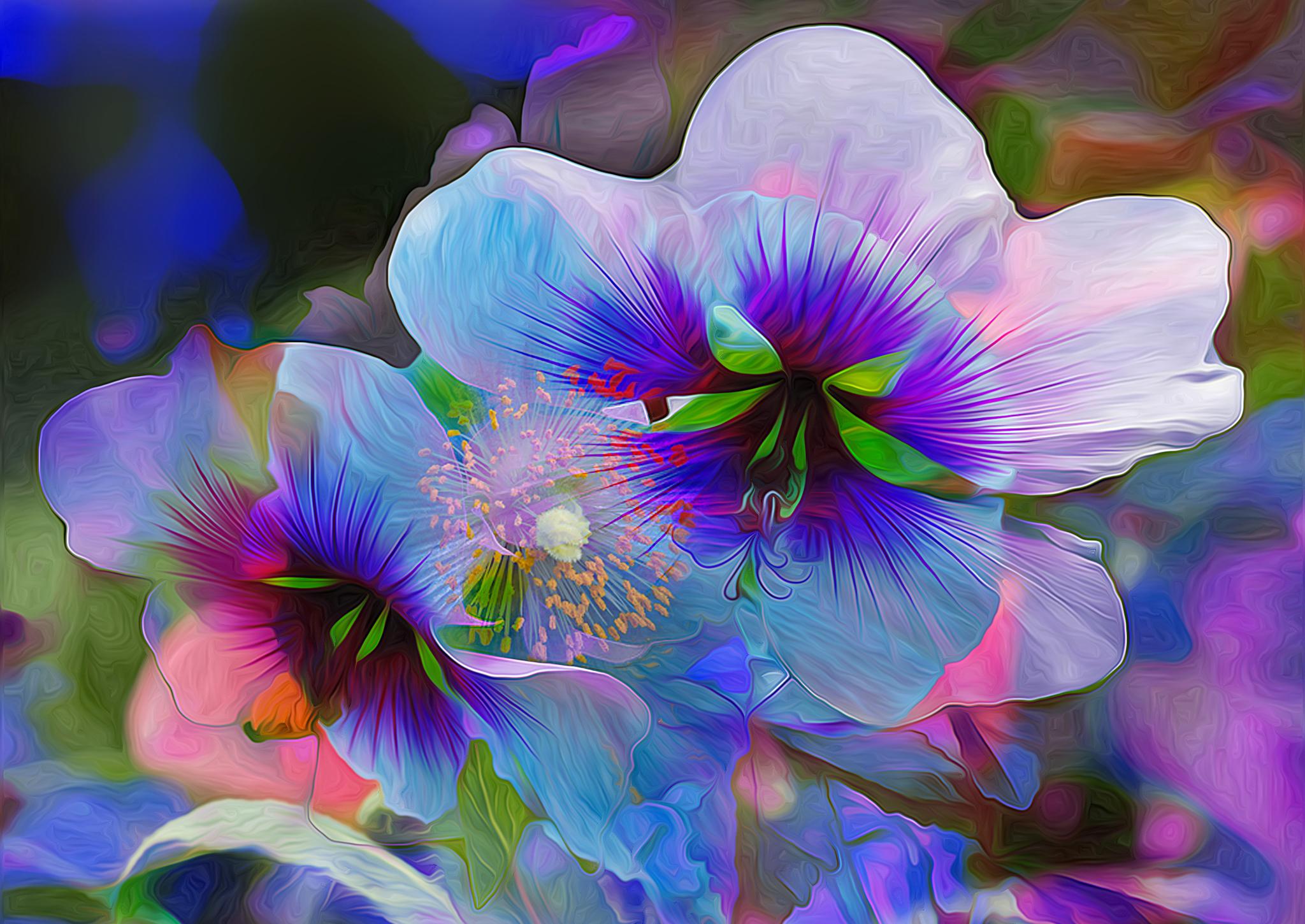 Цветы в картинках фэнтези, для любимой