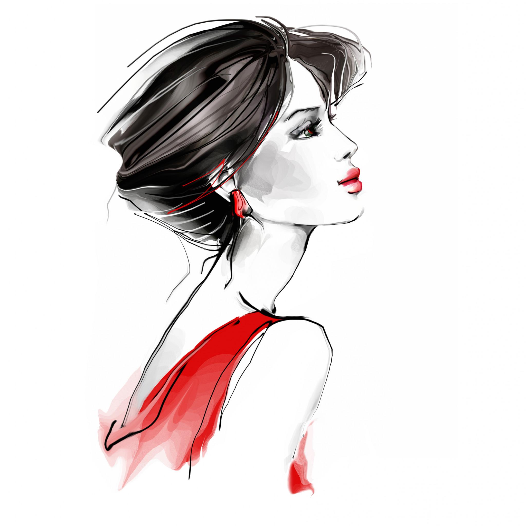 Аватарки женщина рисованная