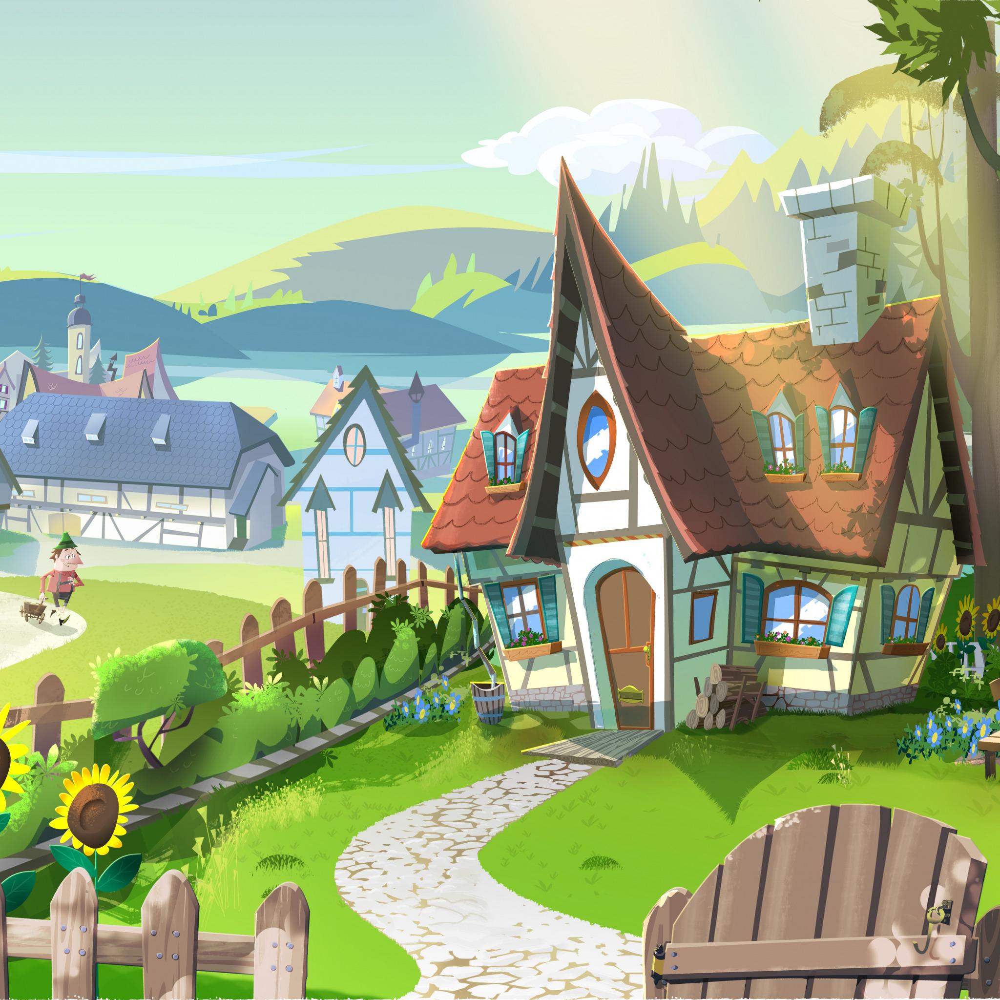 картинка домик с улицами может
