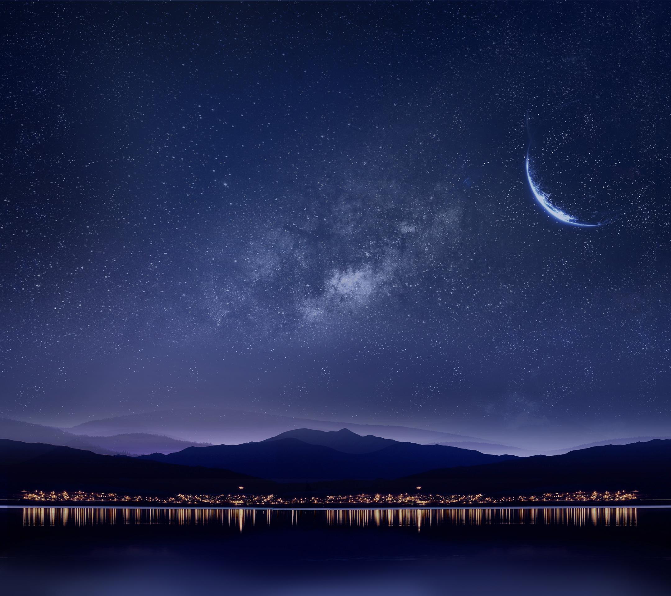 Картинка луны и звезды