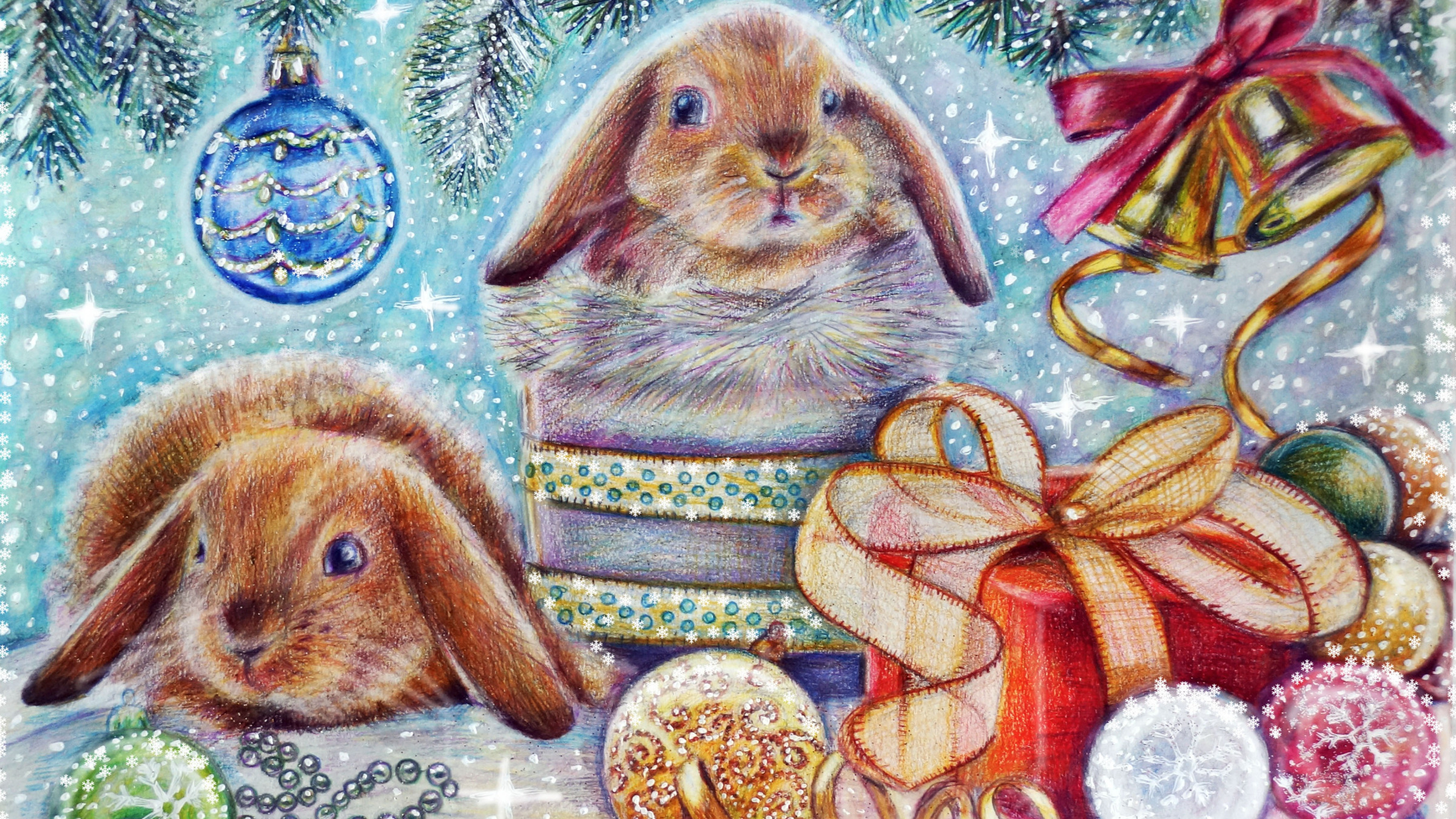 Лучшему другу, открытка новогодняя с животными