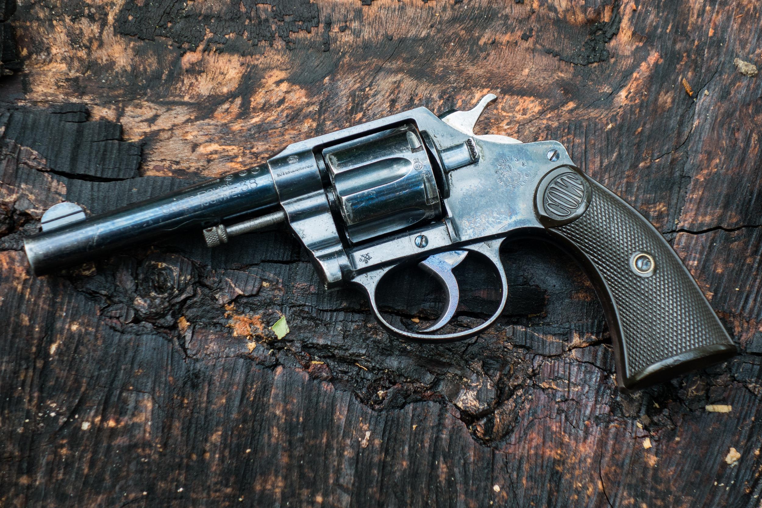 травой, фото обычного черного ствола револьвера этом разделе представлены
