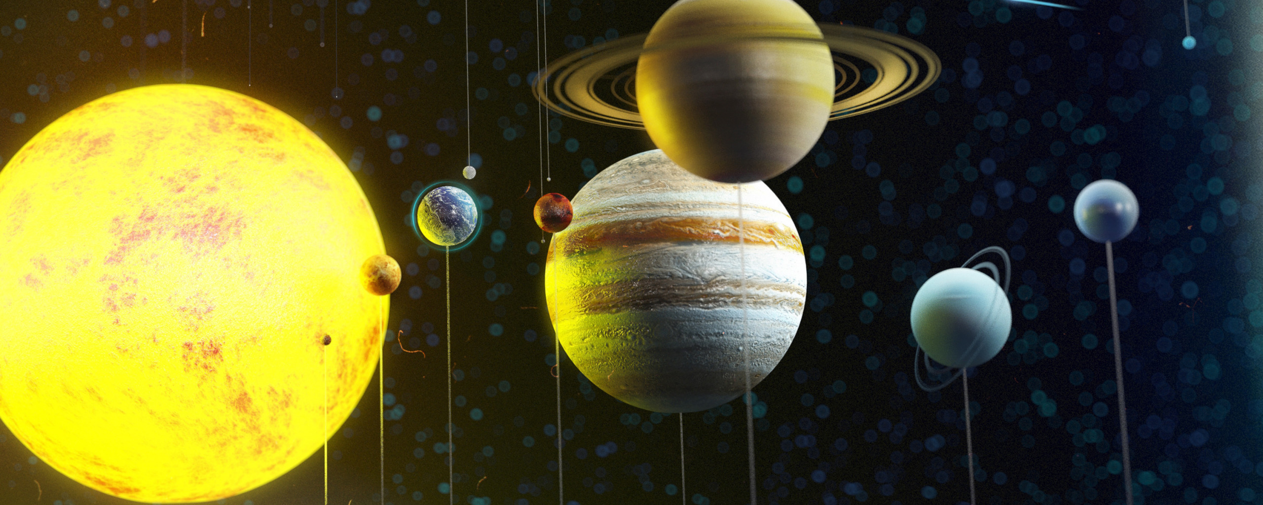 solar system vertical line pics about space - HD2560×1024