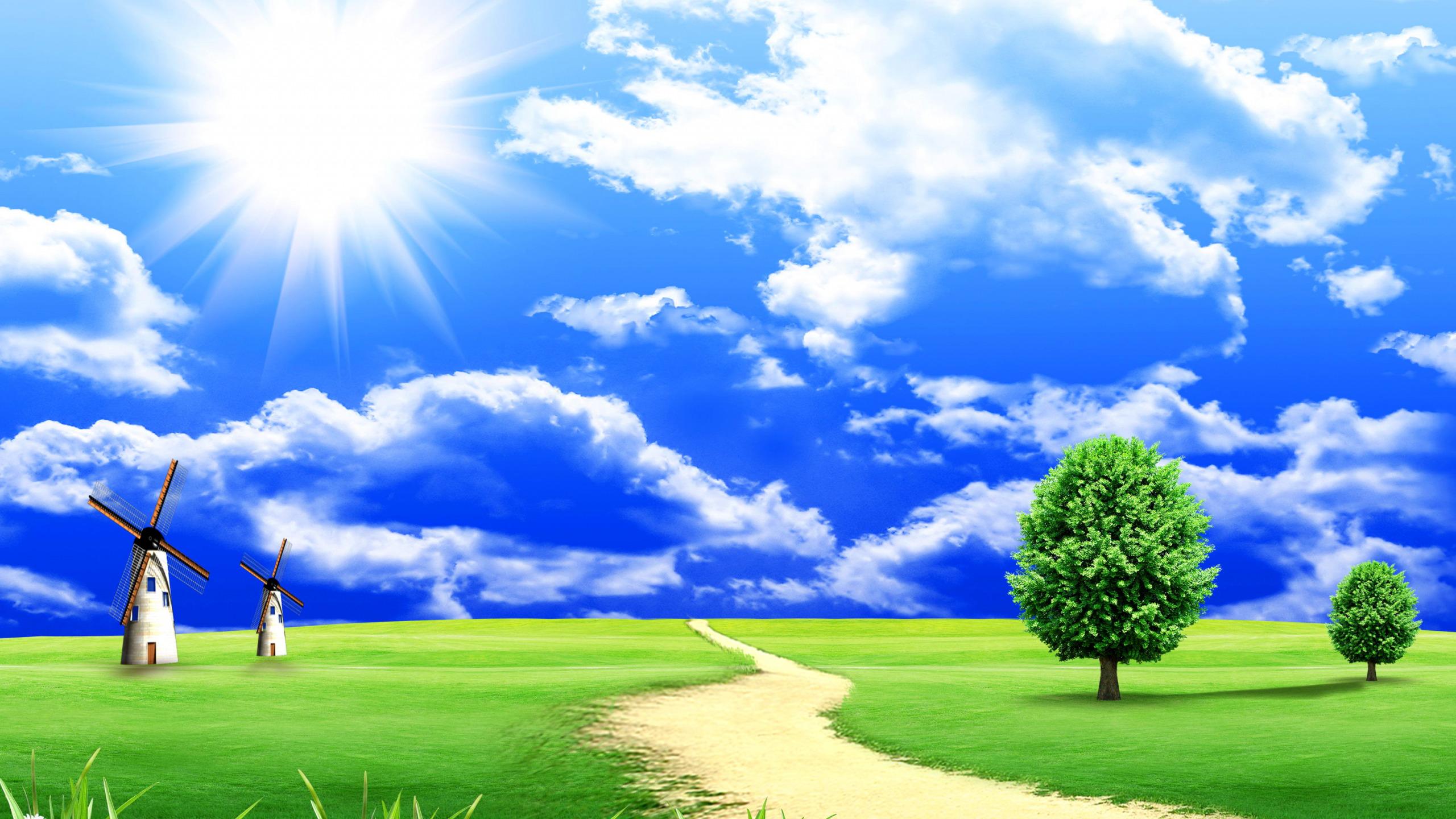 Картинка небо и земля нарисованные