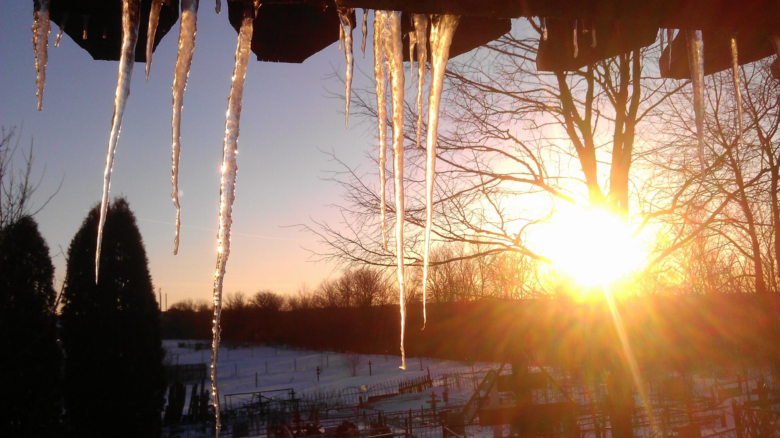 Картинка снег тает под лучами солнца