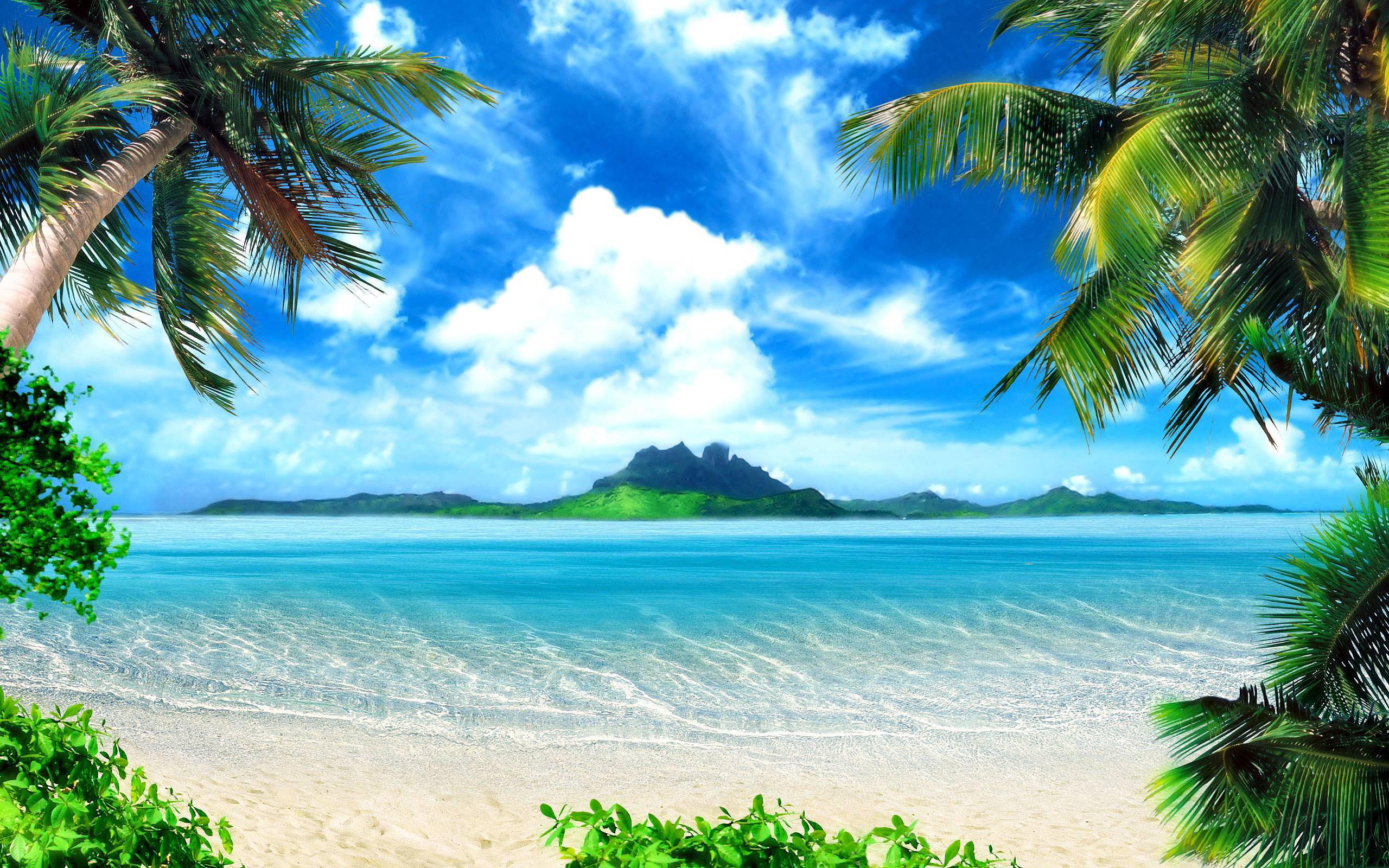 обои море пляж на рабочий стол скачать бесплатно 1920x1080 № 230431 бесплатно