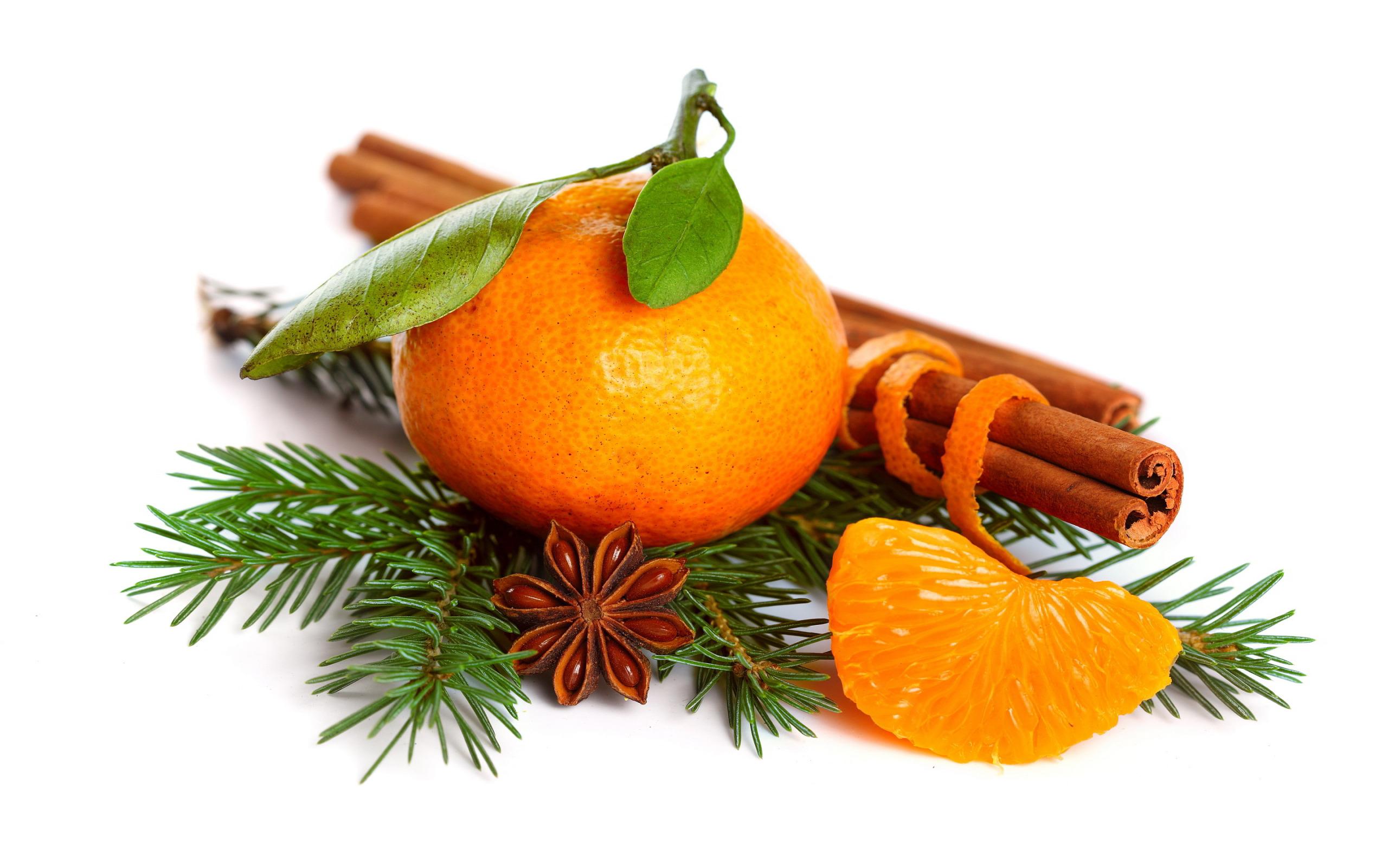 Новогодние мандариновые картинки