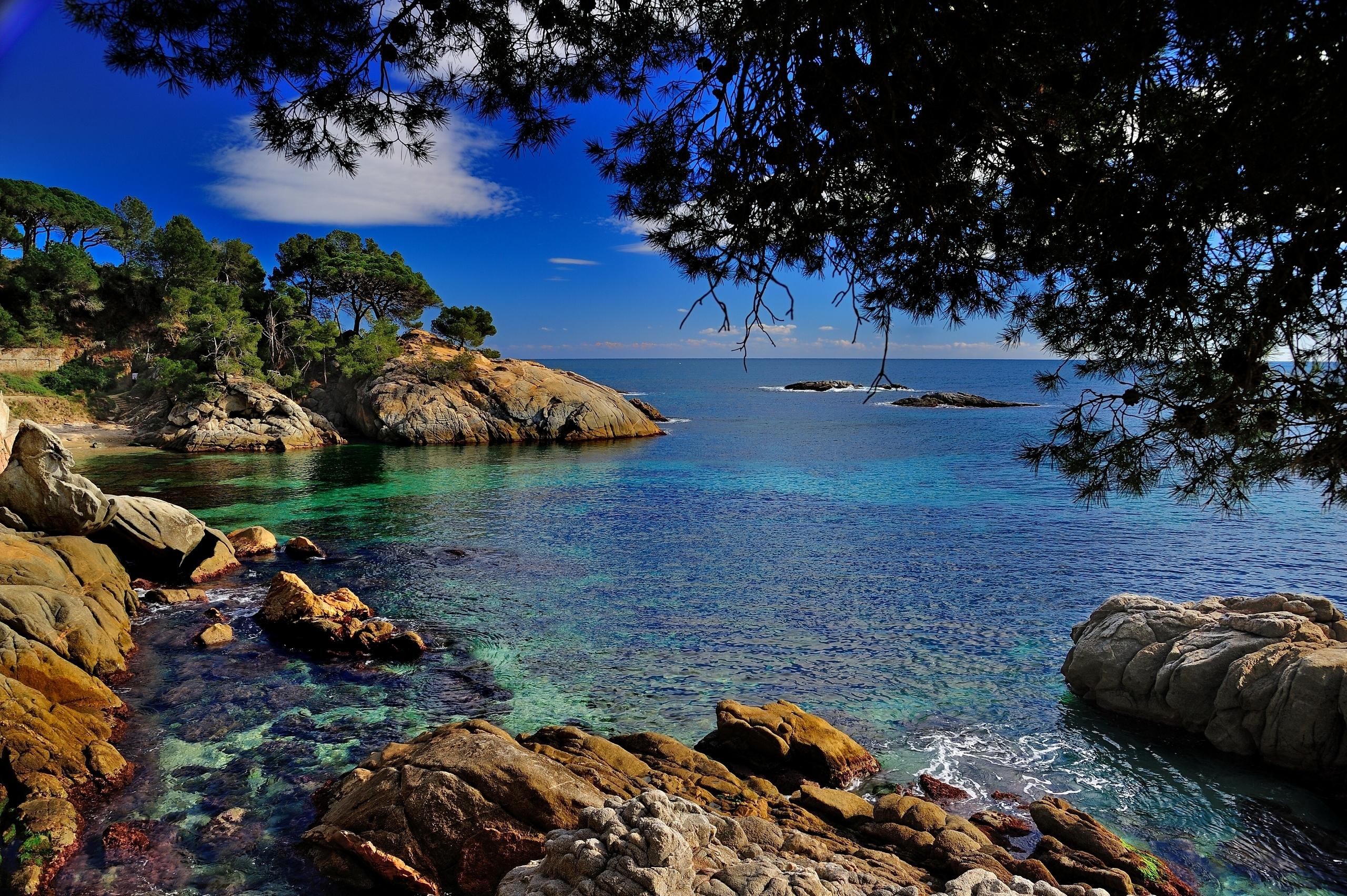 Фотопанорама пейзажей средиземноморского побережья