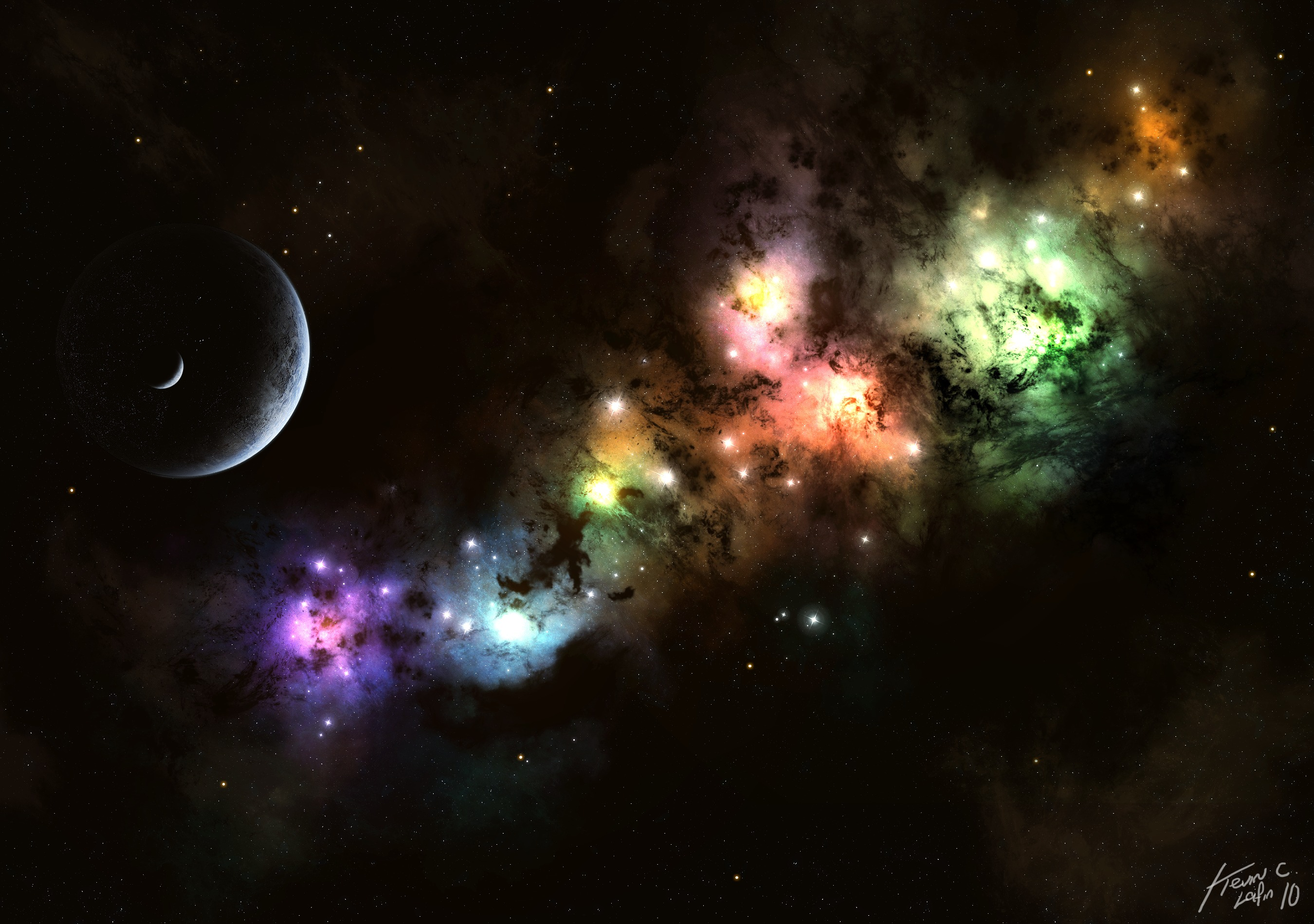 astronomy artwork - HD 2560×1600