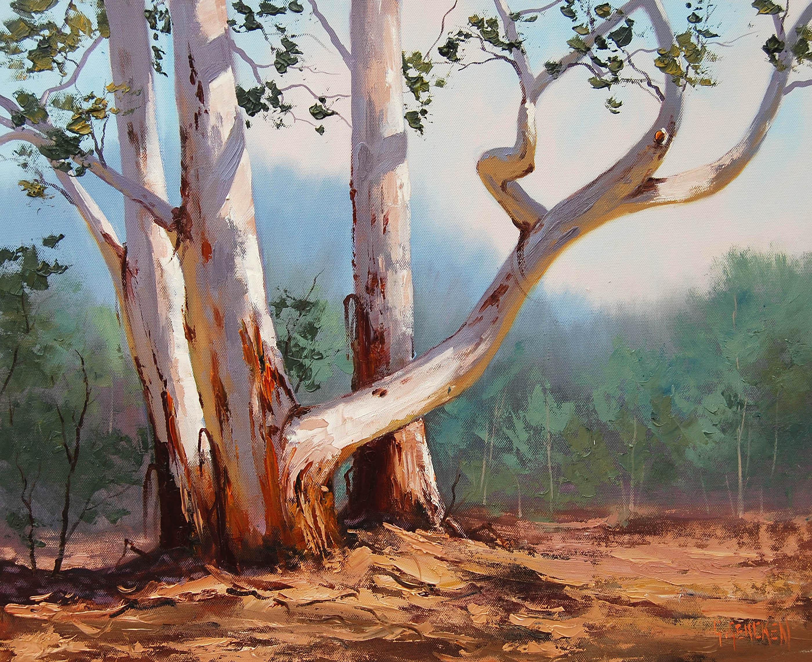 деревья живопись: