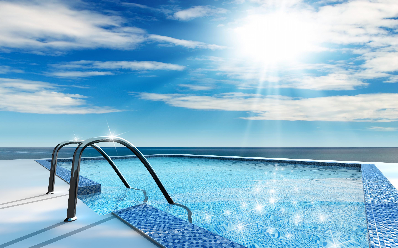 природа бассейн отдых море nature pool the rest sea  № 3545961 без смс