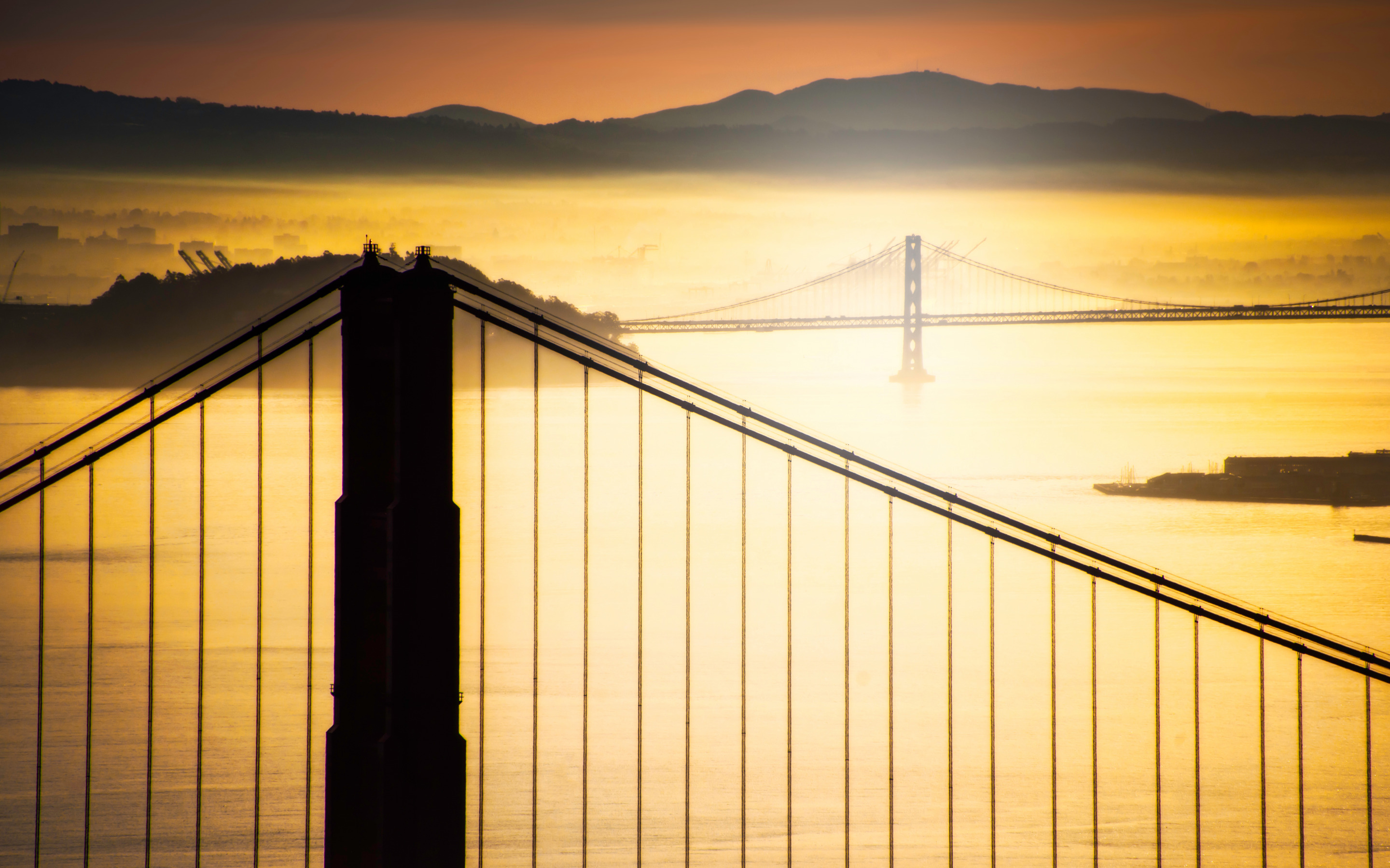 sunrise pictures golden gate - HD1600×1000