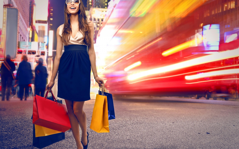 Фото девушек на шоппинге