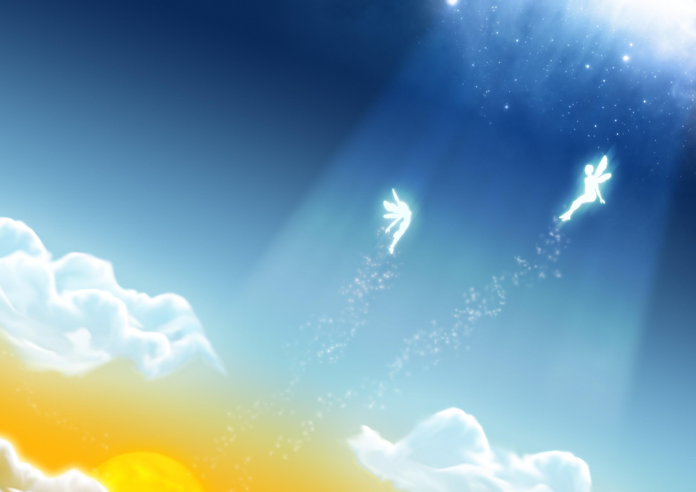 Ангелы в небе  № 2270125 бесплатно