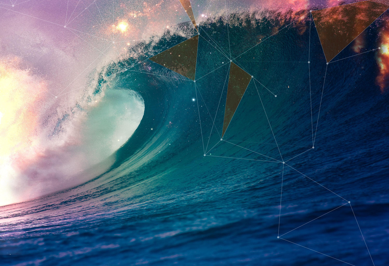 природа волна радуга вода  № 1039580  скачать