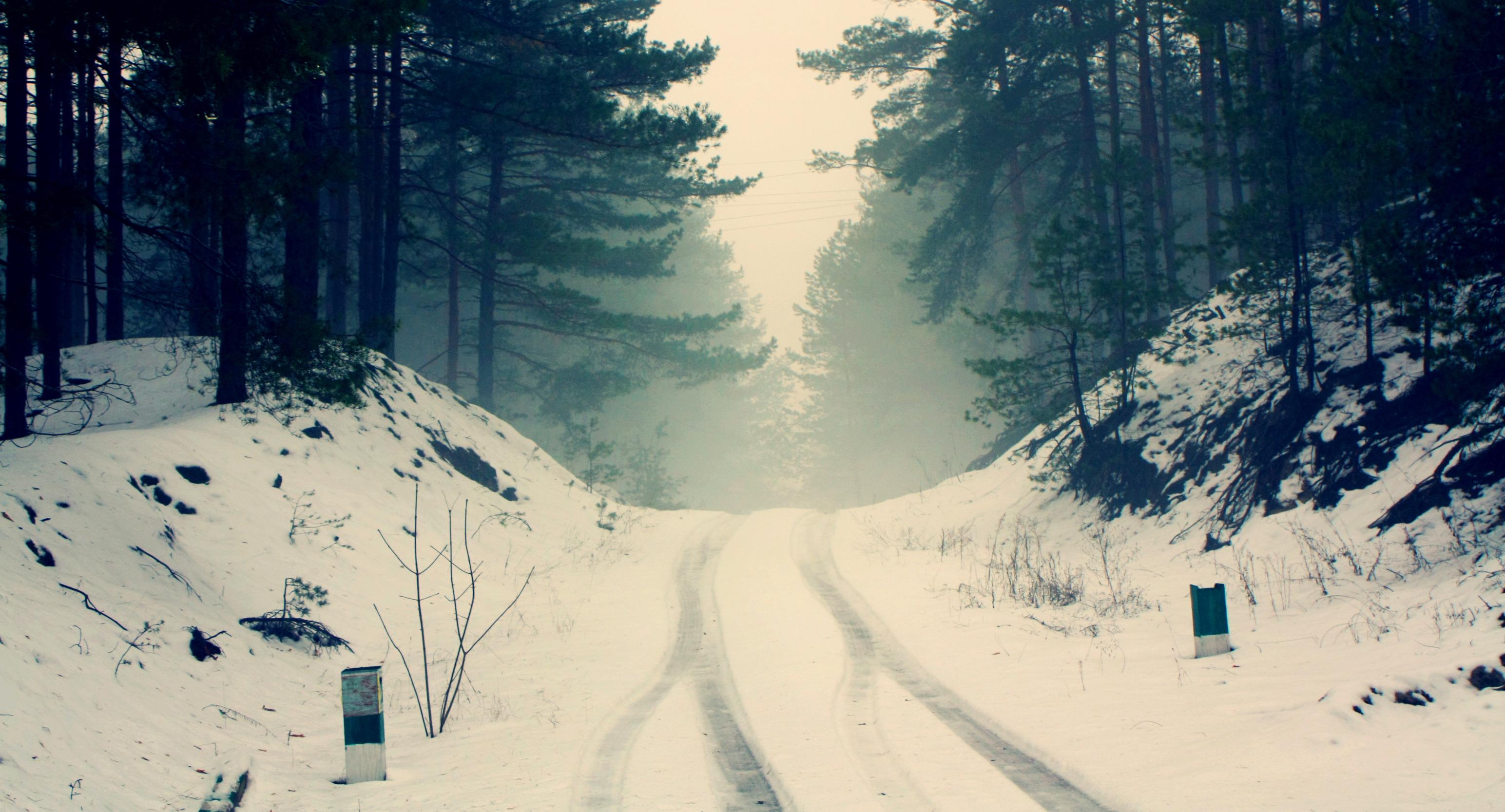 Обои картинки фото природа зима