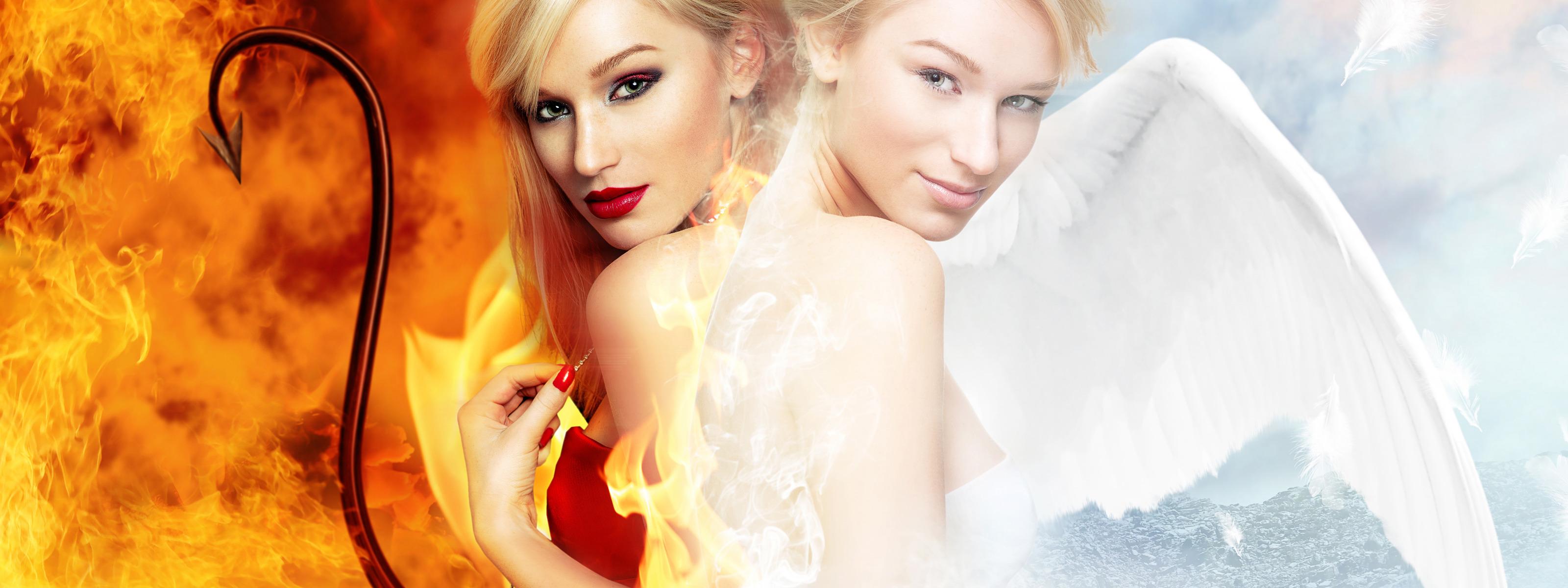 Картинки ангел и демон женщина