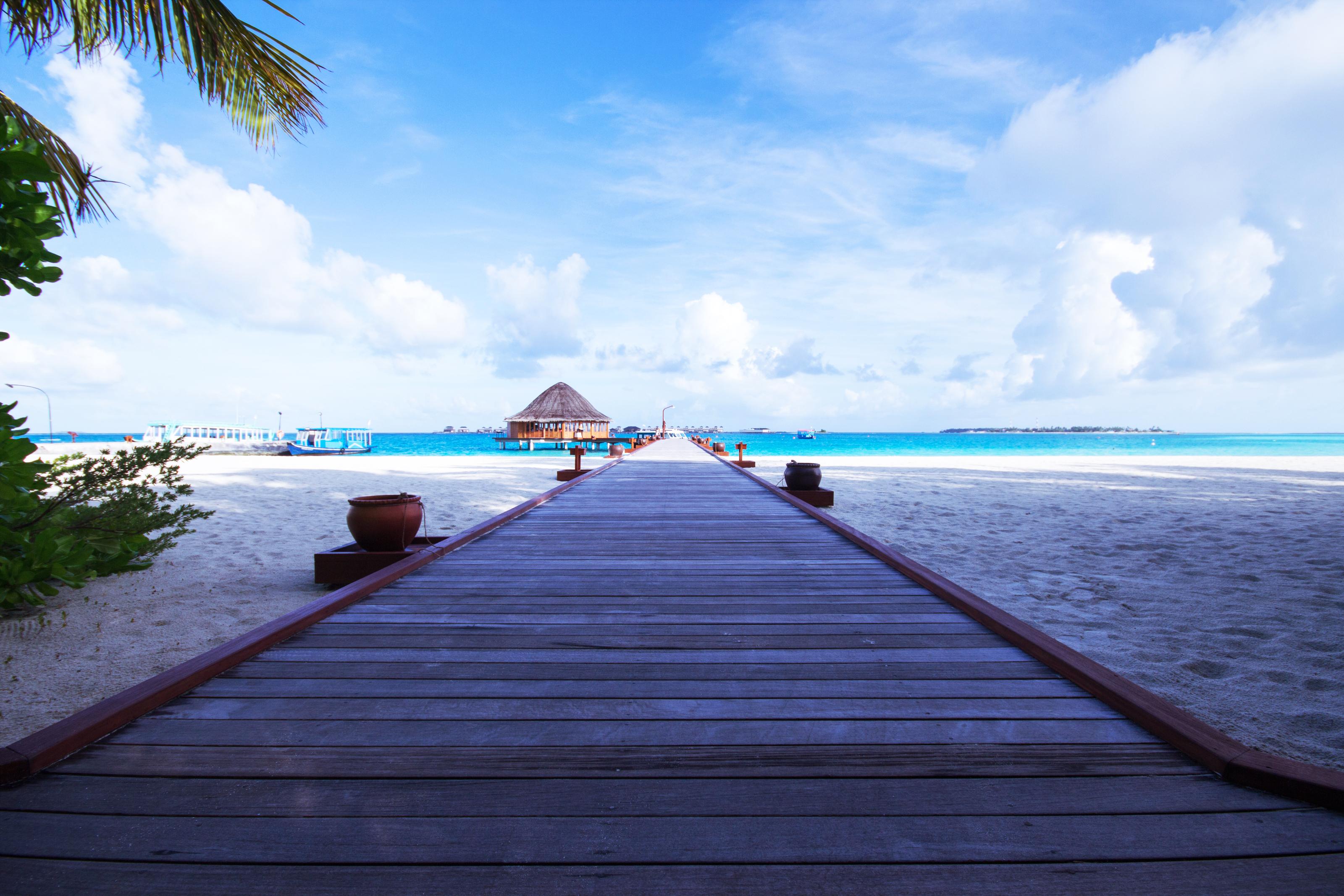 пирс море небо курорт  № 1238014 бесплатно