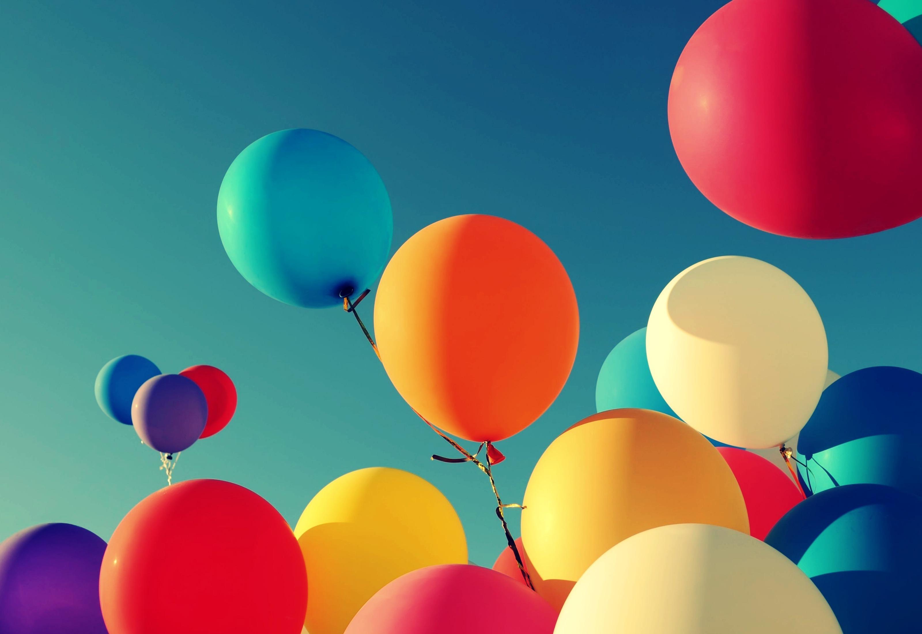 Открытка с воздушными шариками, собак ньюфаундленд картинки