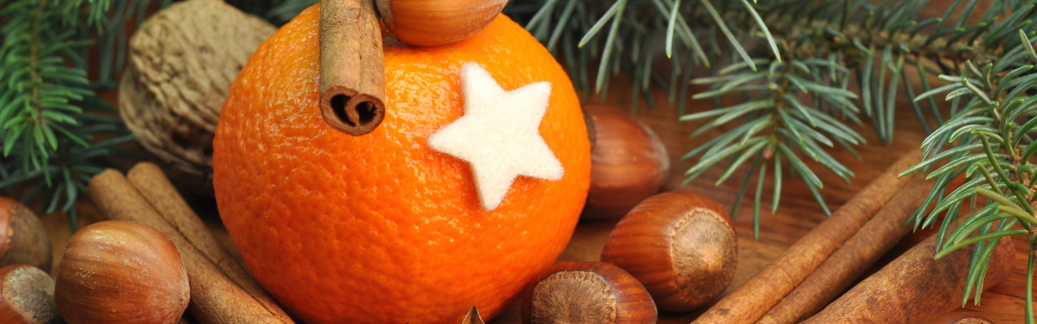 Картинка для рабочего стола апельсины новый год