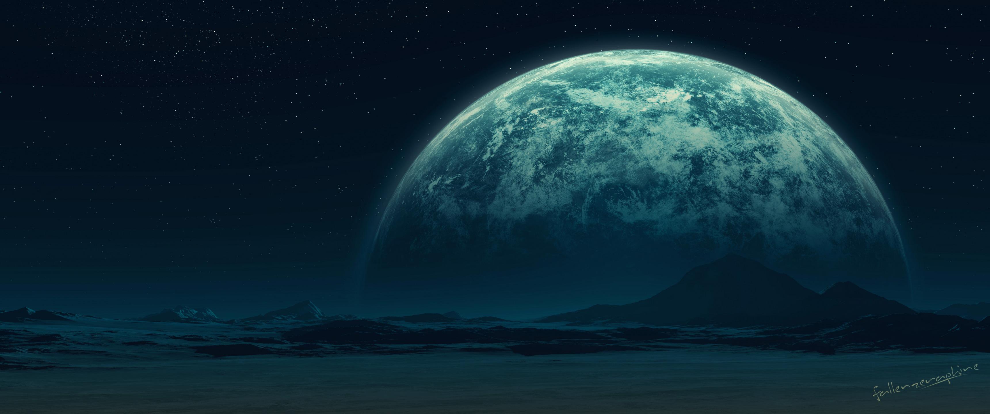 Планеты над горами  № 1164025 без смс