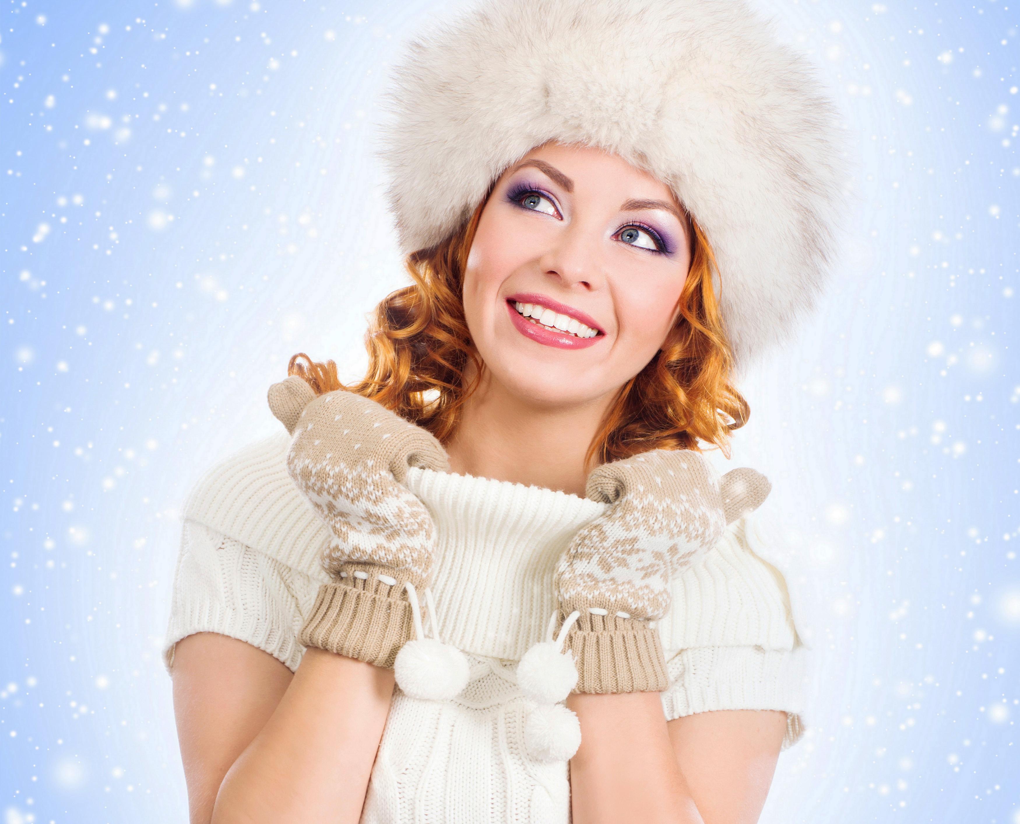 Зима картинка девушки