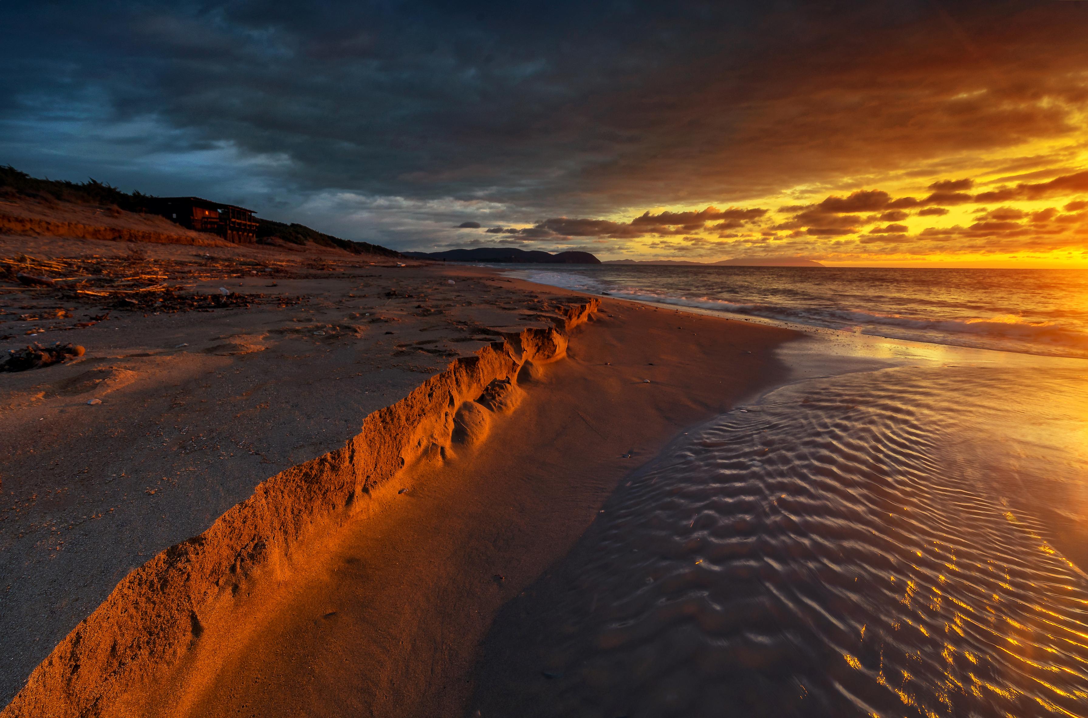 картинка заката с песком место