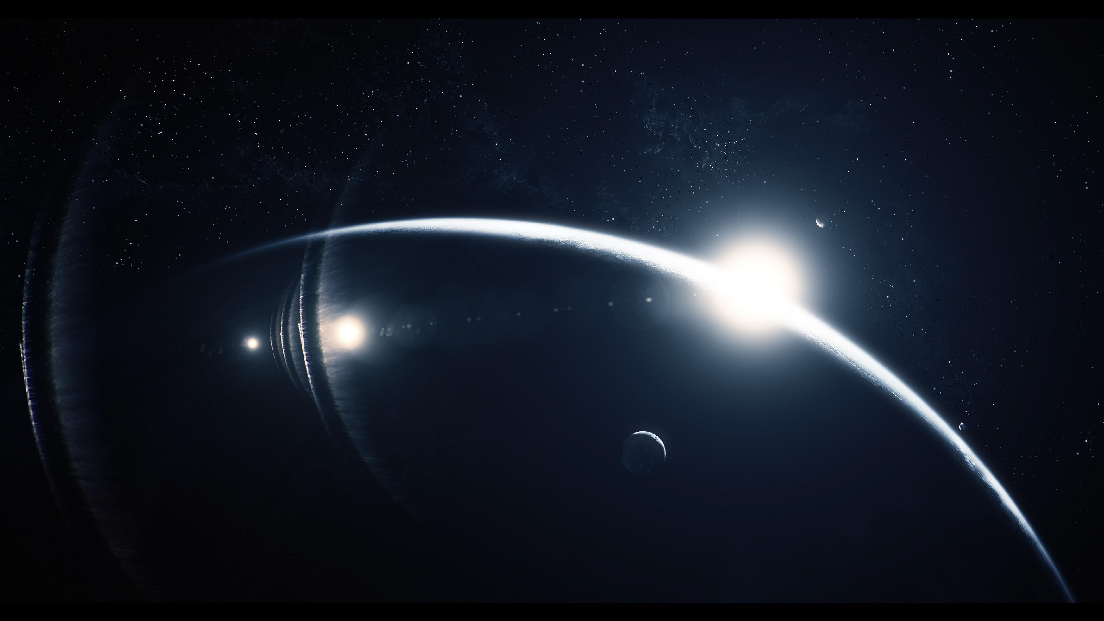 Обои Восход на орбите картинки на рабочий стол на тему Космос - скачать  № 1761451 загрузить