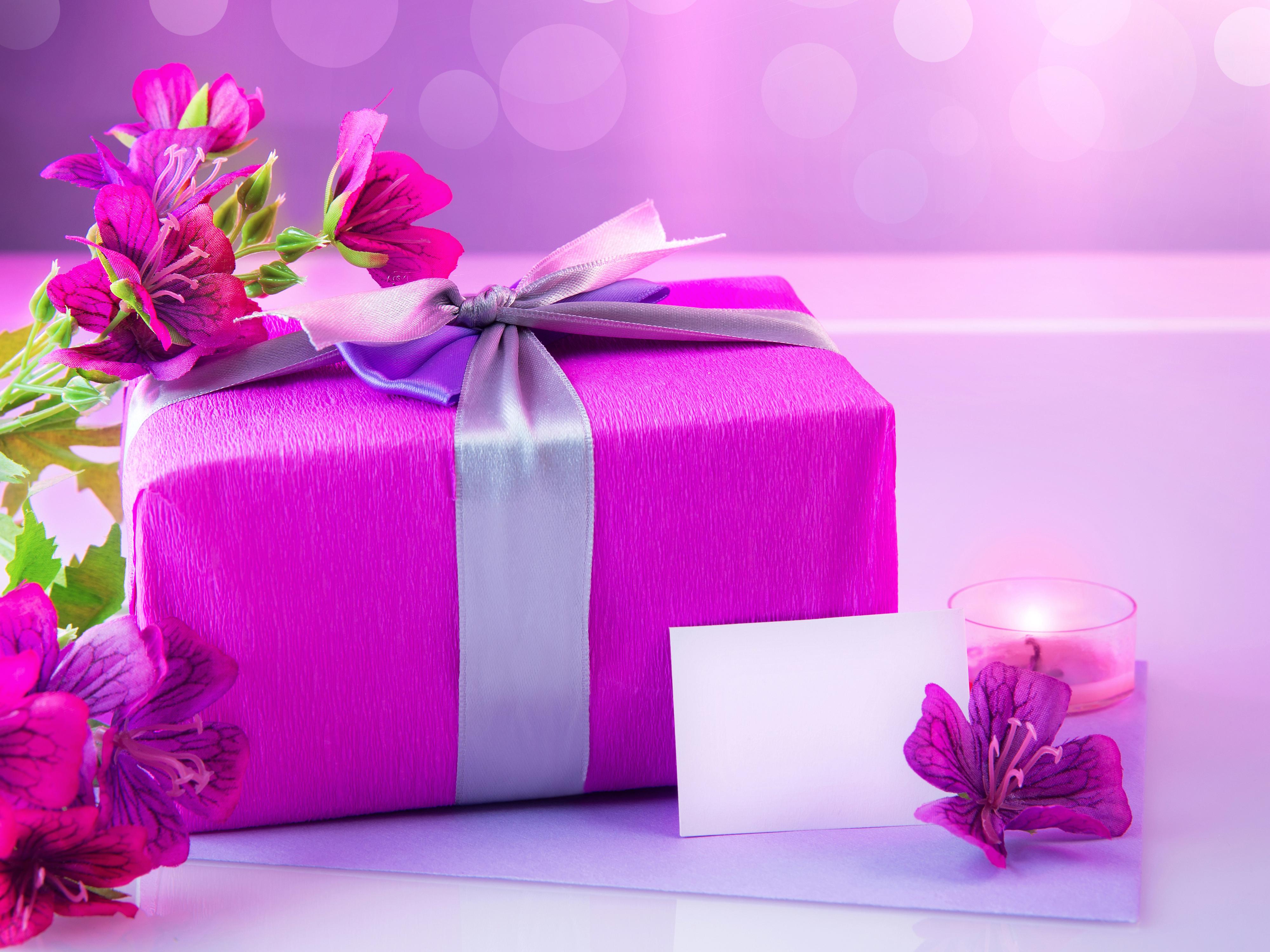 Открытка цветов в подарок