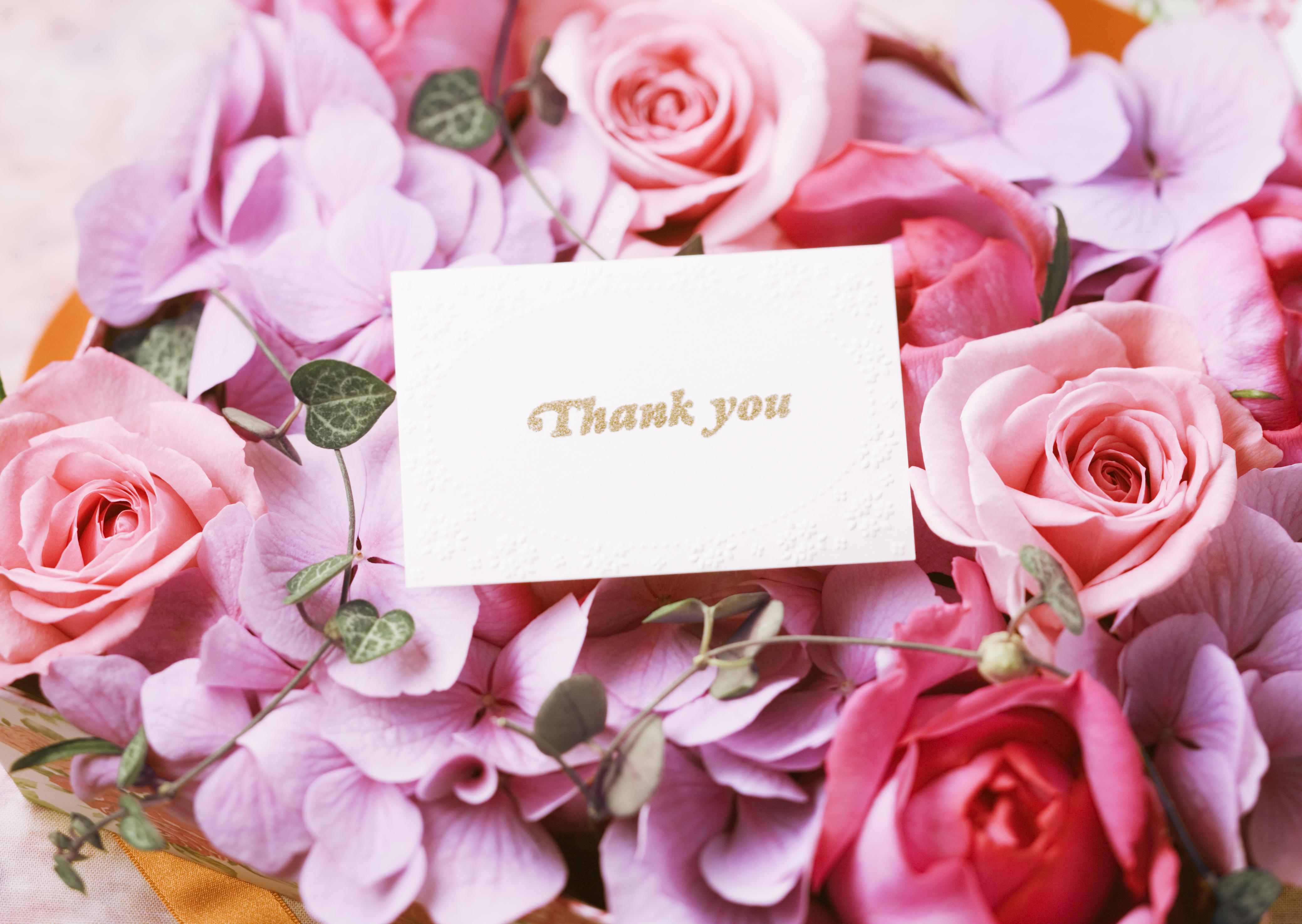 Картинка спасибо цветы