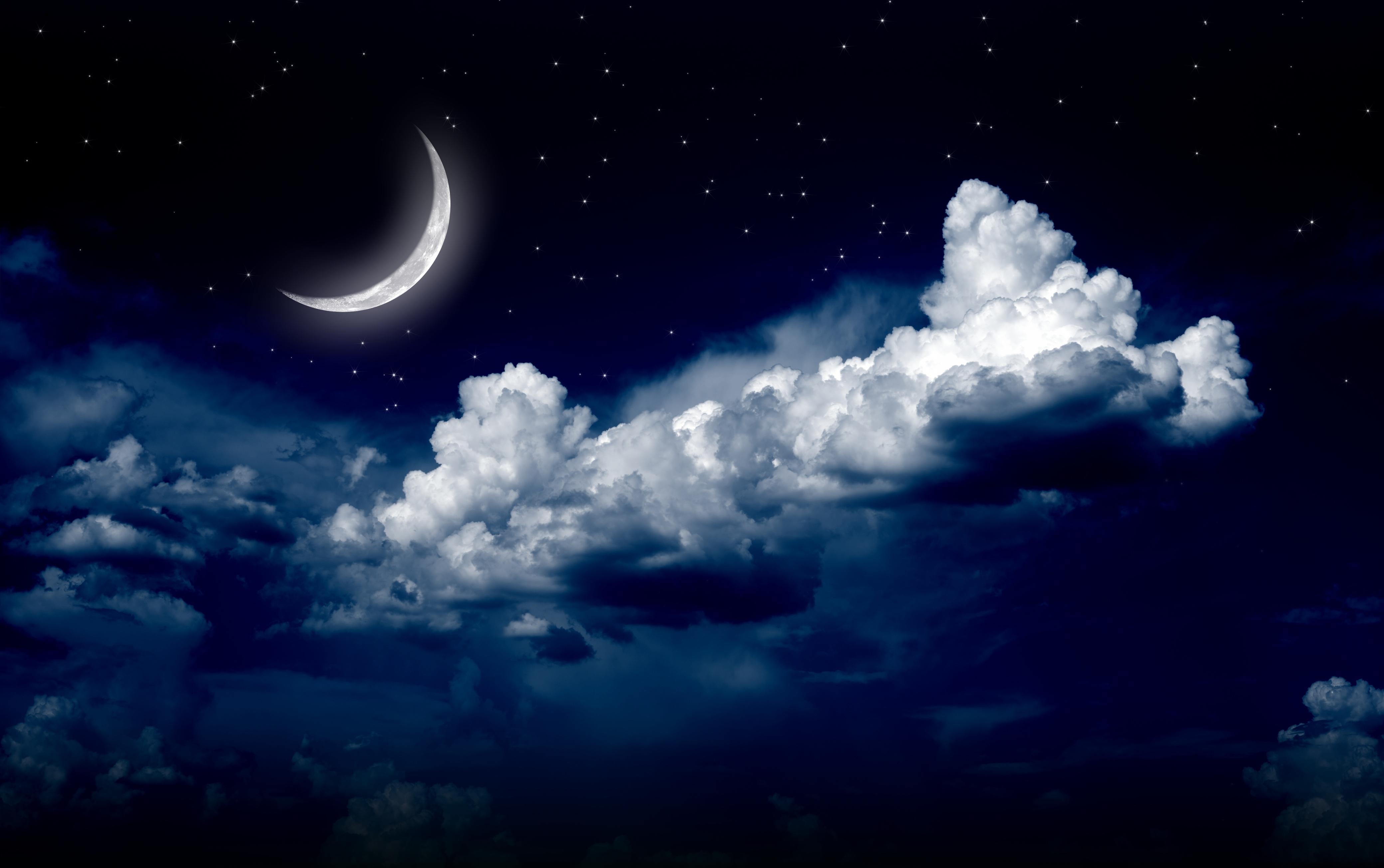 moon and stars - HD4160×2609