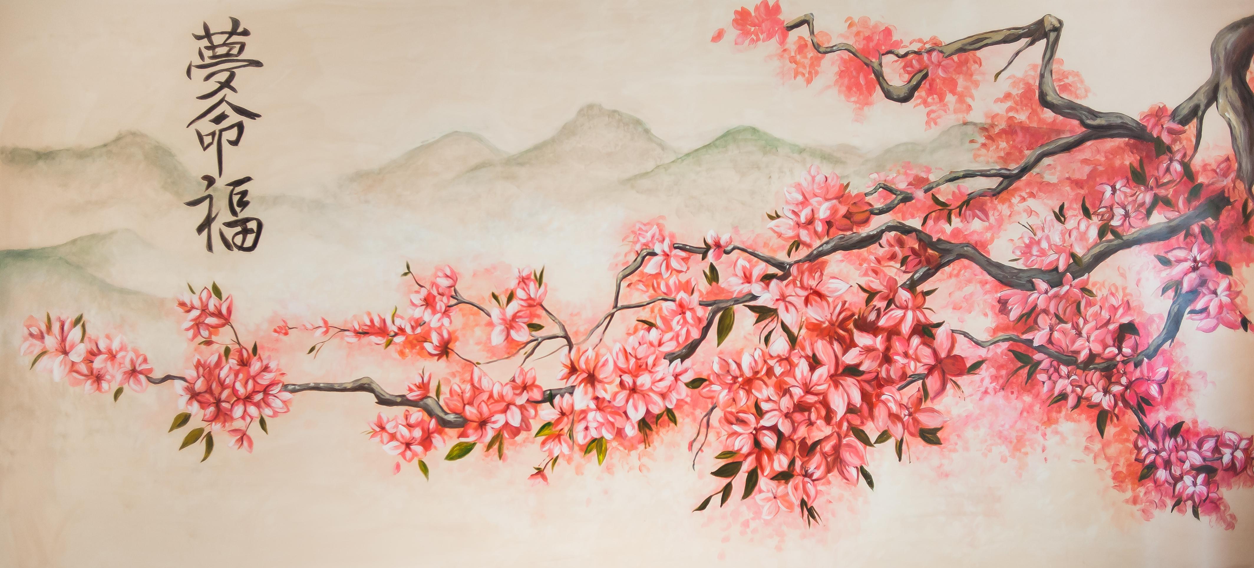 Картина в японском стиле своими руками
