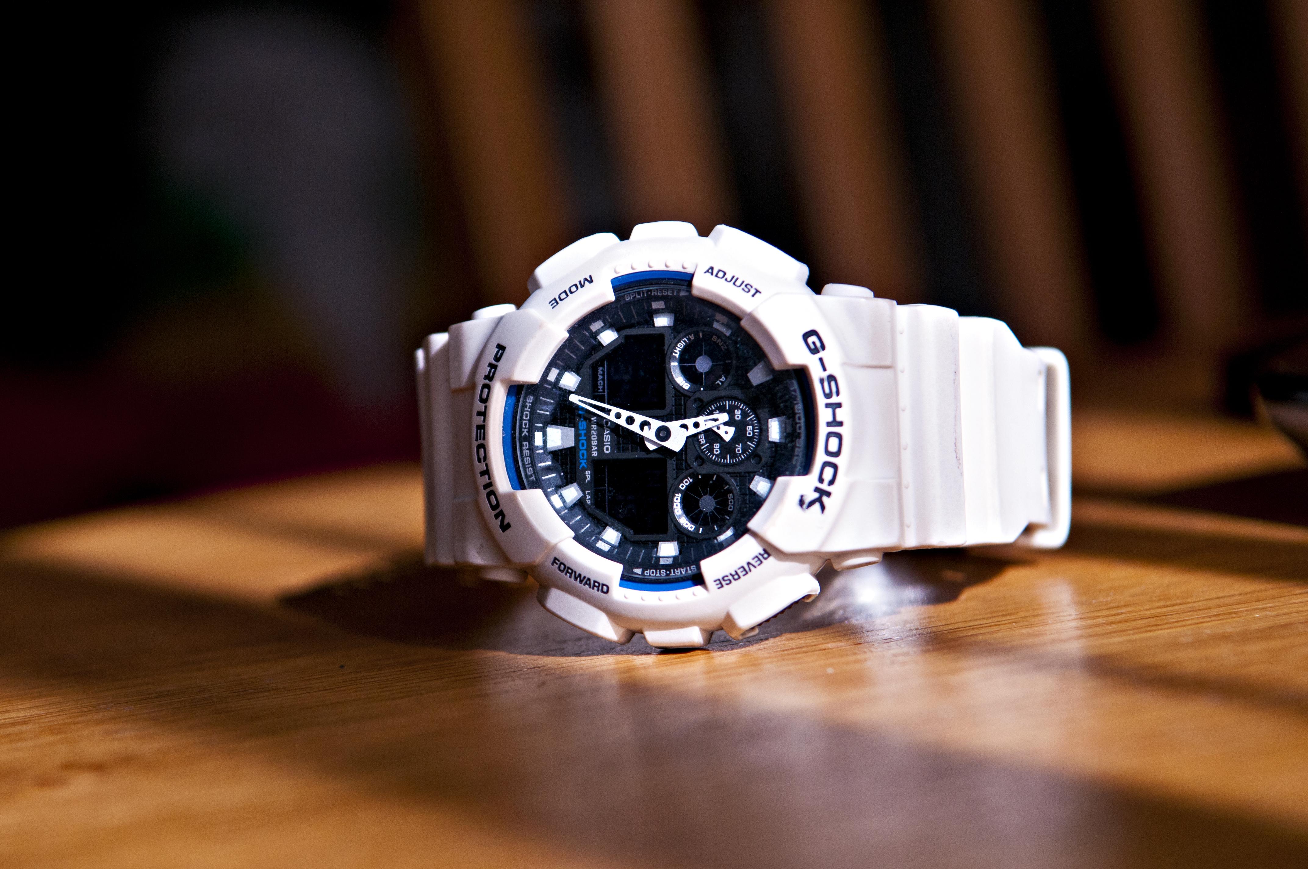 Спортивные часы G-Shock от Casio копия Белые с