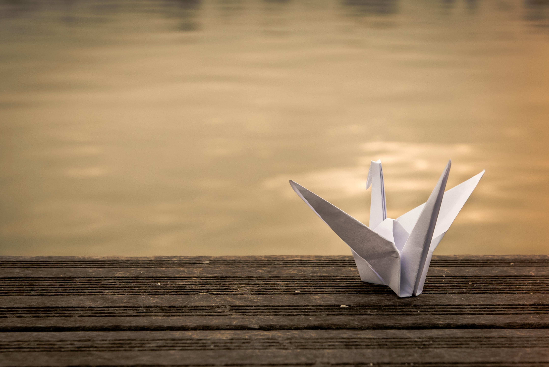 Бумажный журавлик в картинках