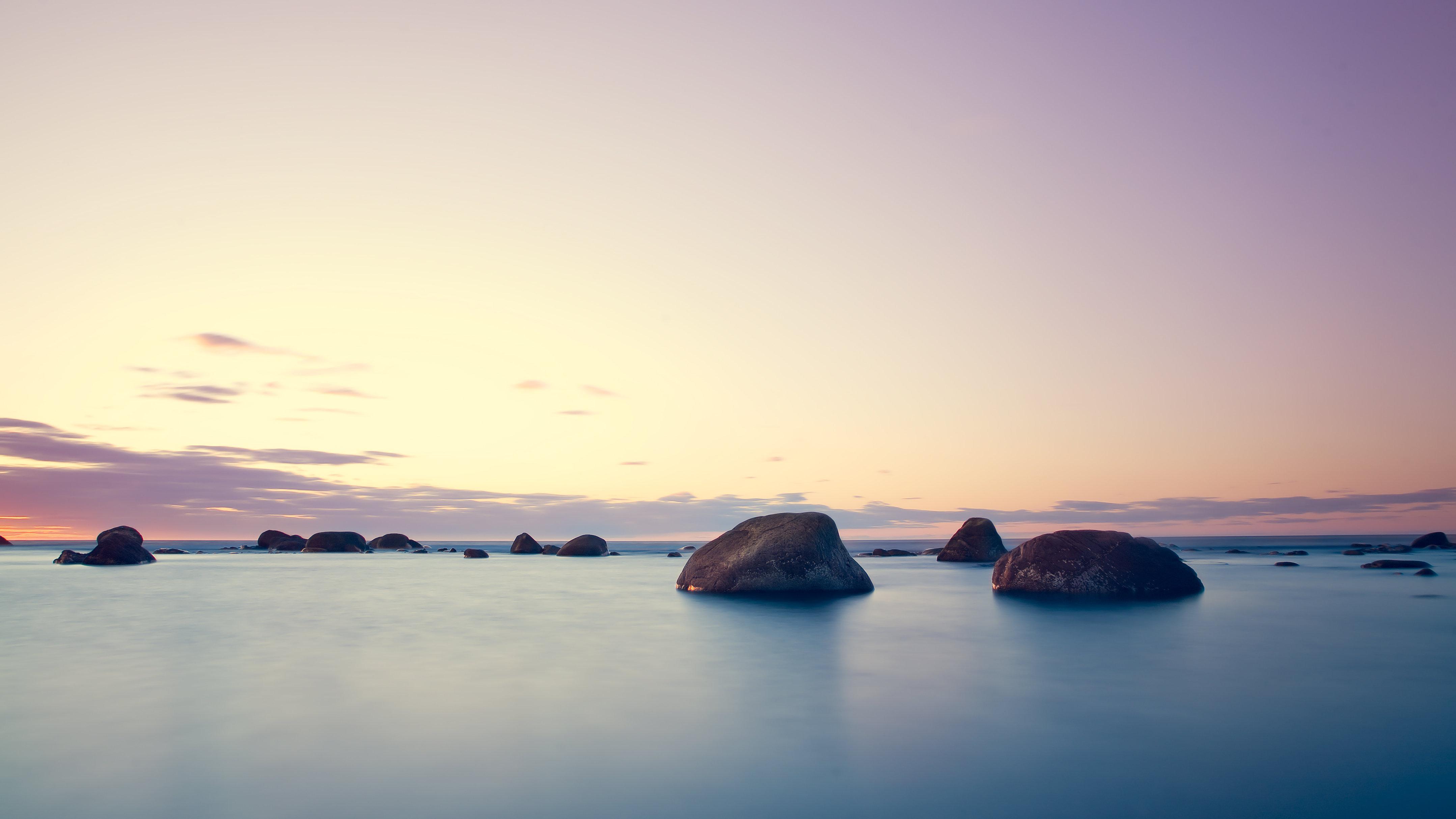 горизонт камни море вода океан природа  № 2556143  скачать
