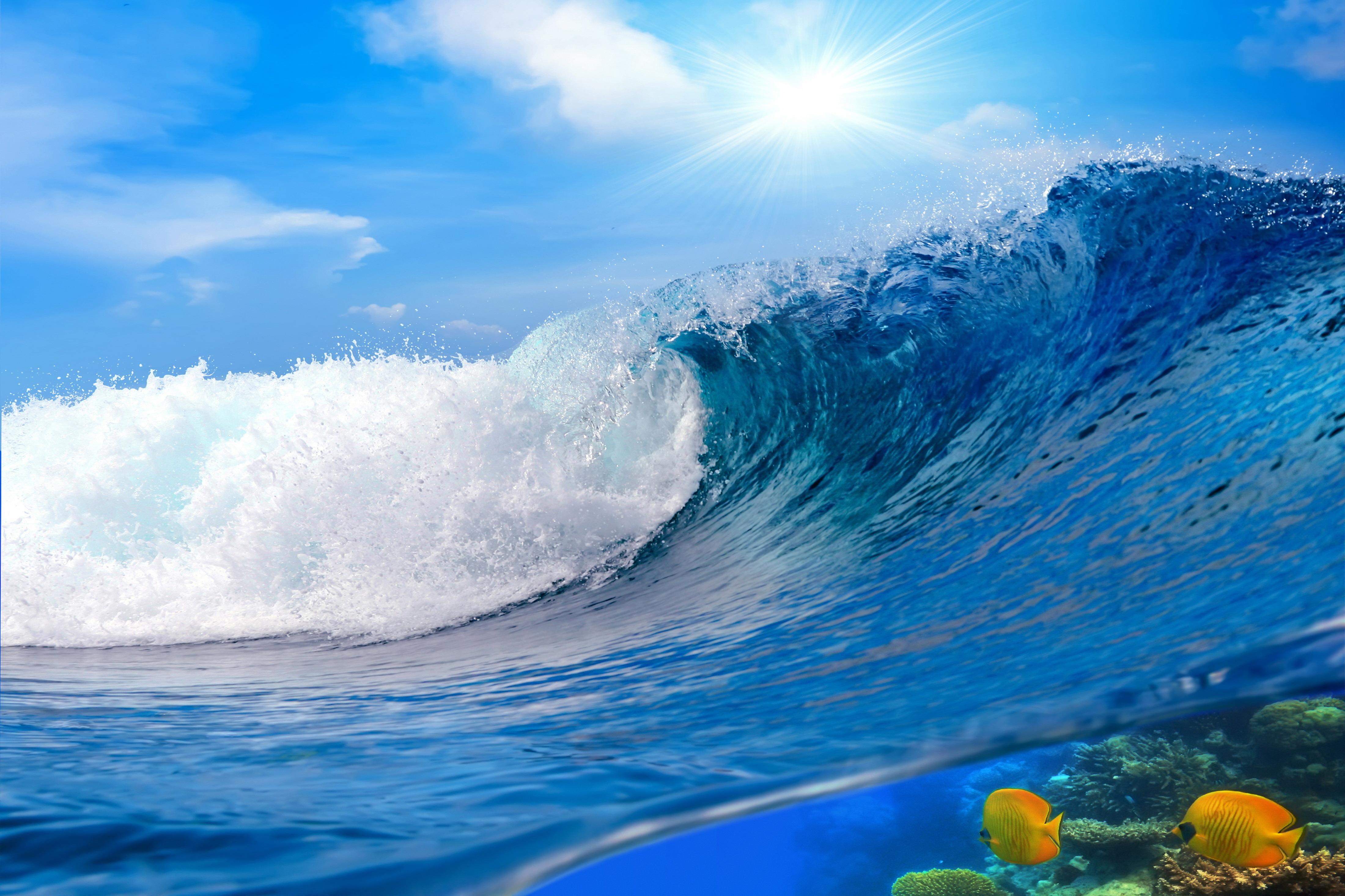 Картинка волна море