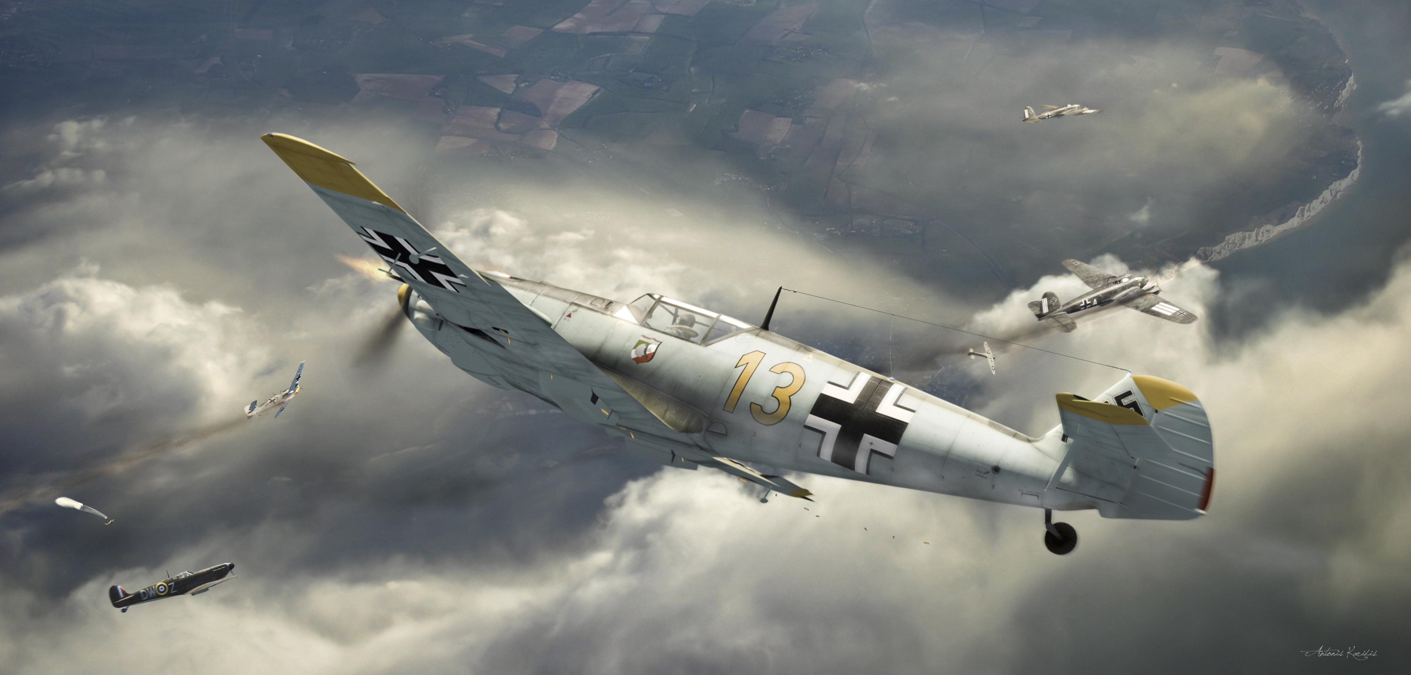 Обои самолет немецкий небо картинки