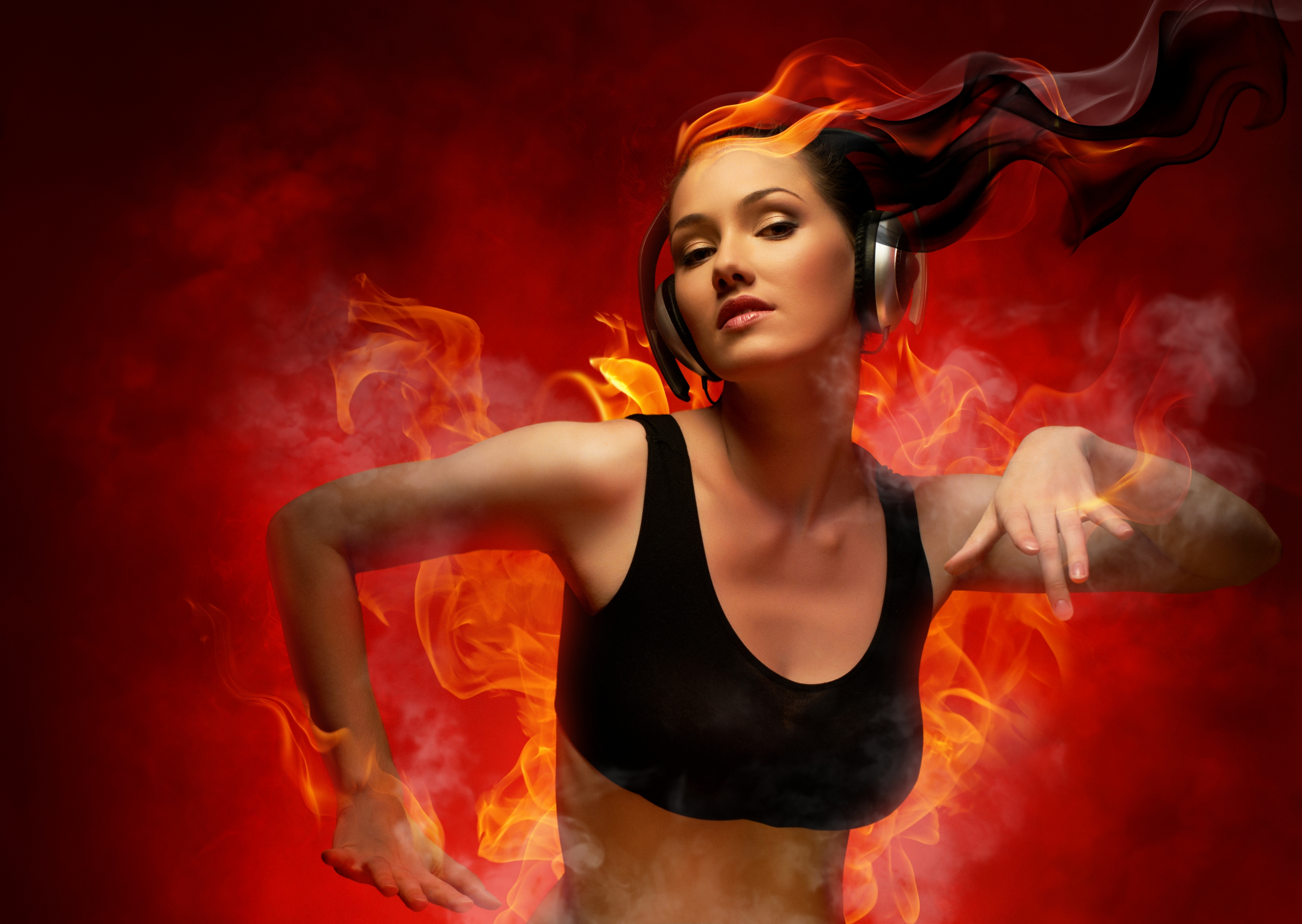 креативные картинки огонь