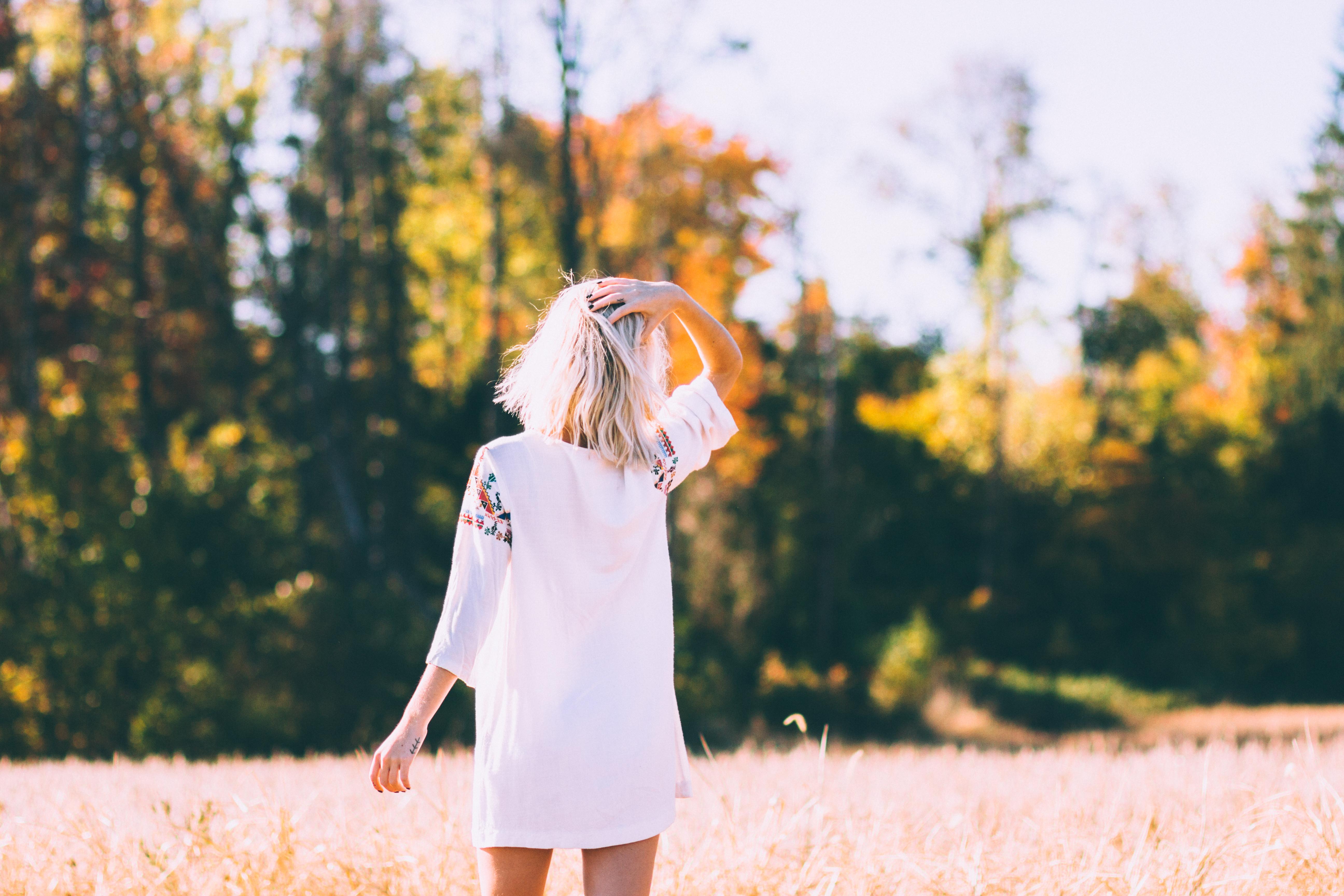 девушки блондинки со спины фото