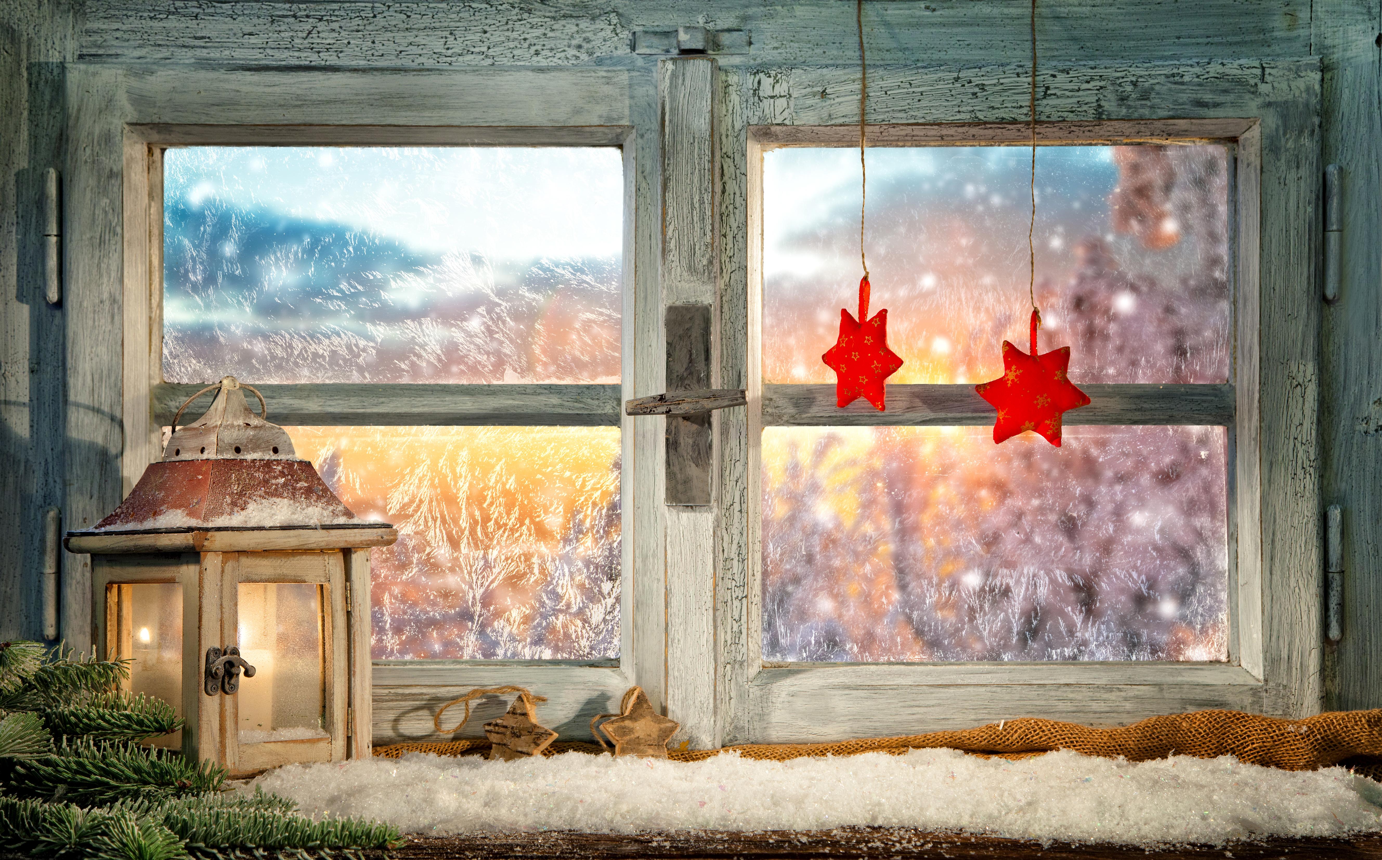 Картинки зимний пейзаж за окном