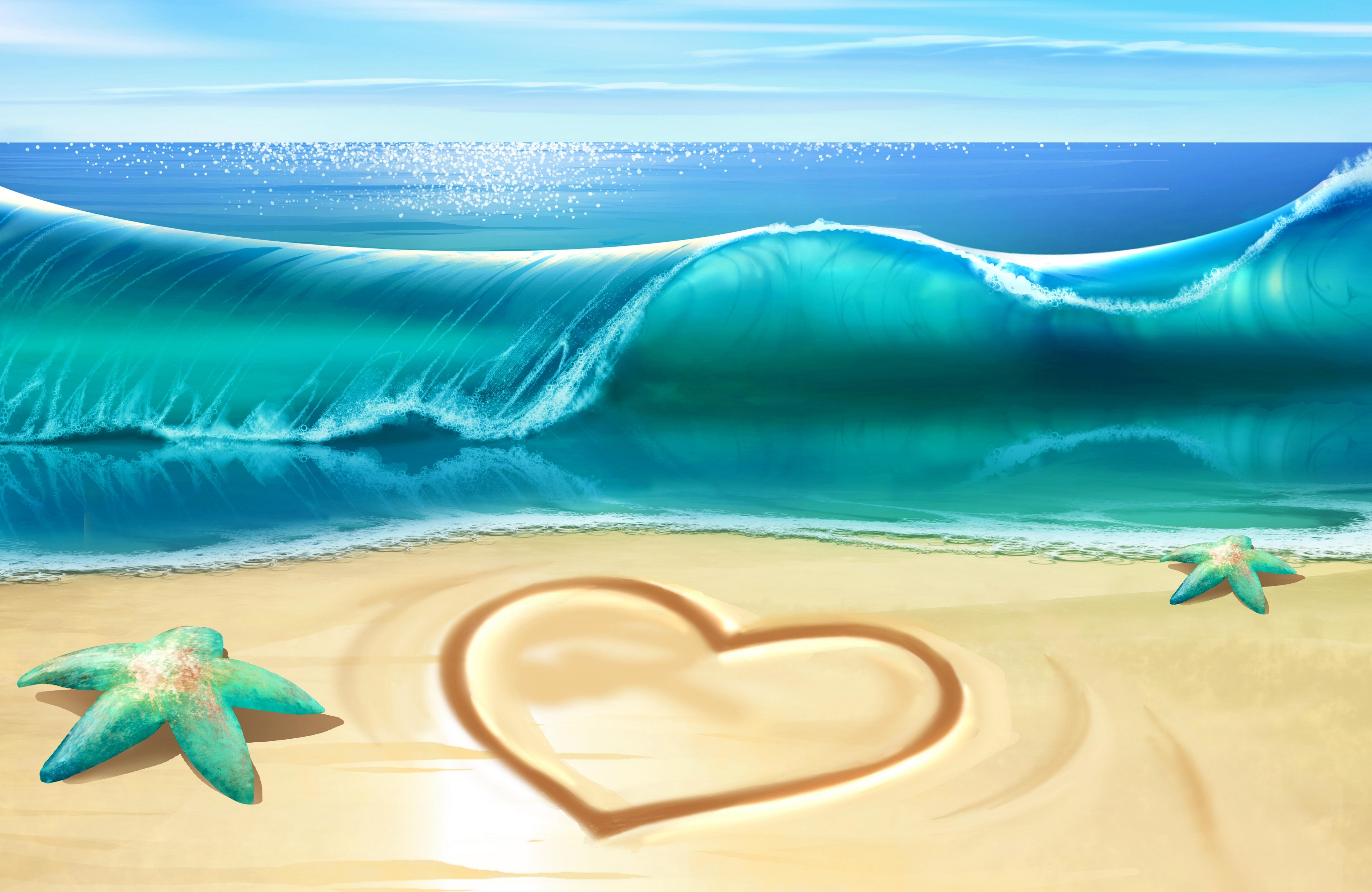 природа горизонт море морская звезда  № 623137  скачать