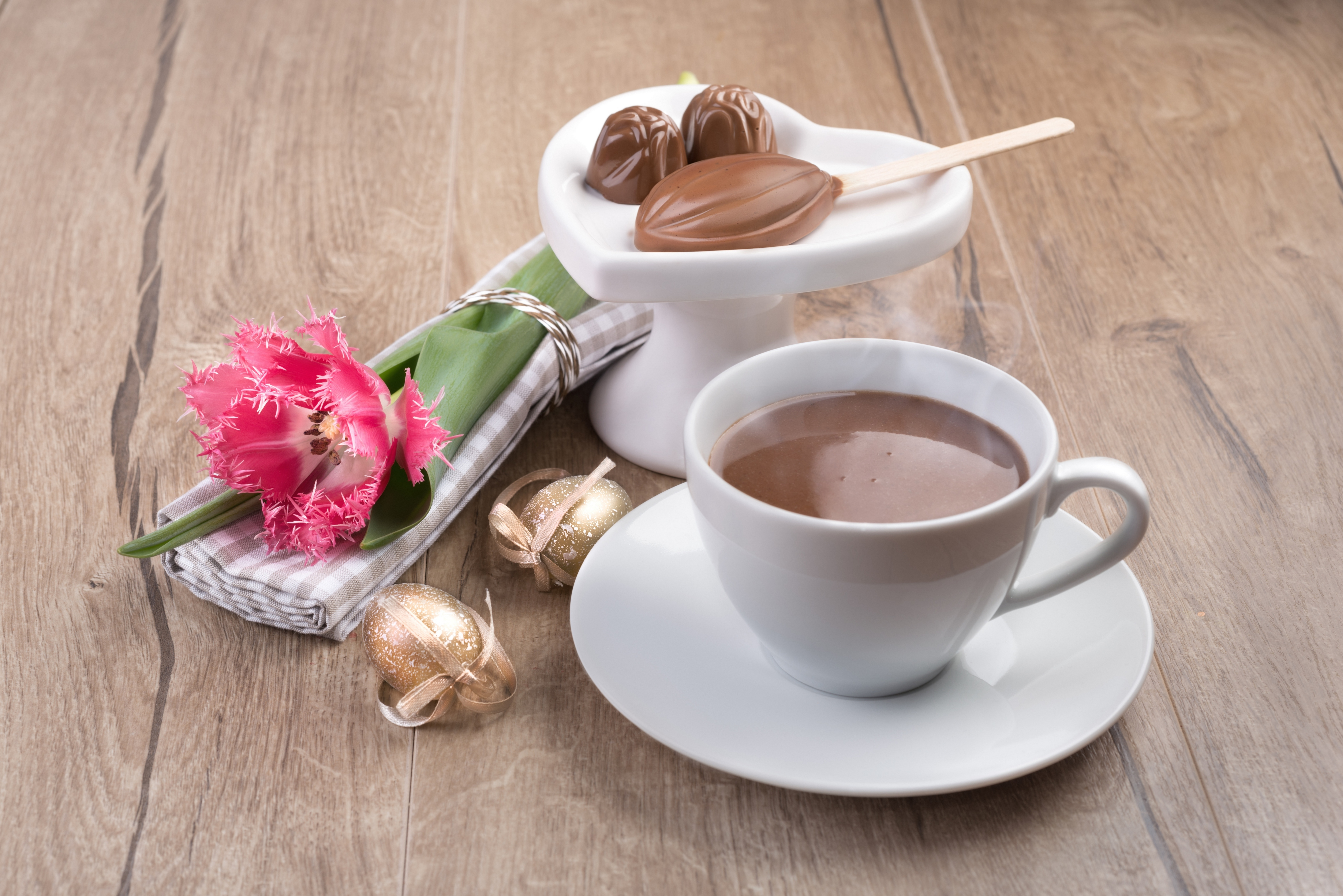 Картинки утро цветы шоколад