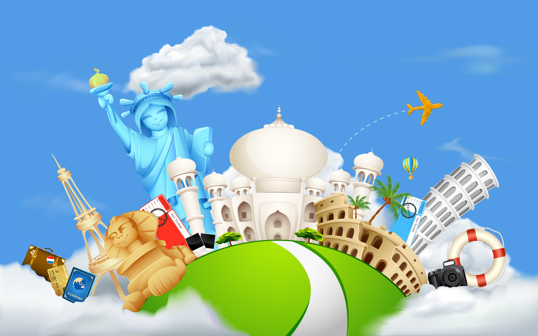 Картинки о путешествиях для детей, надписью